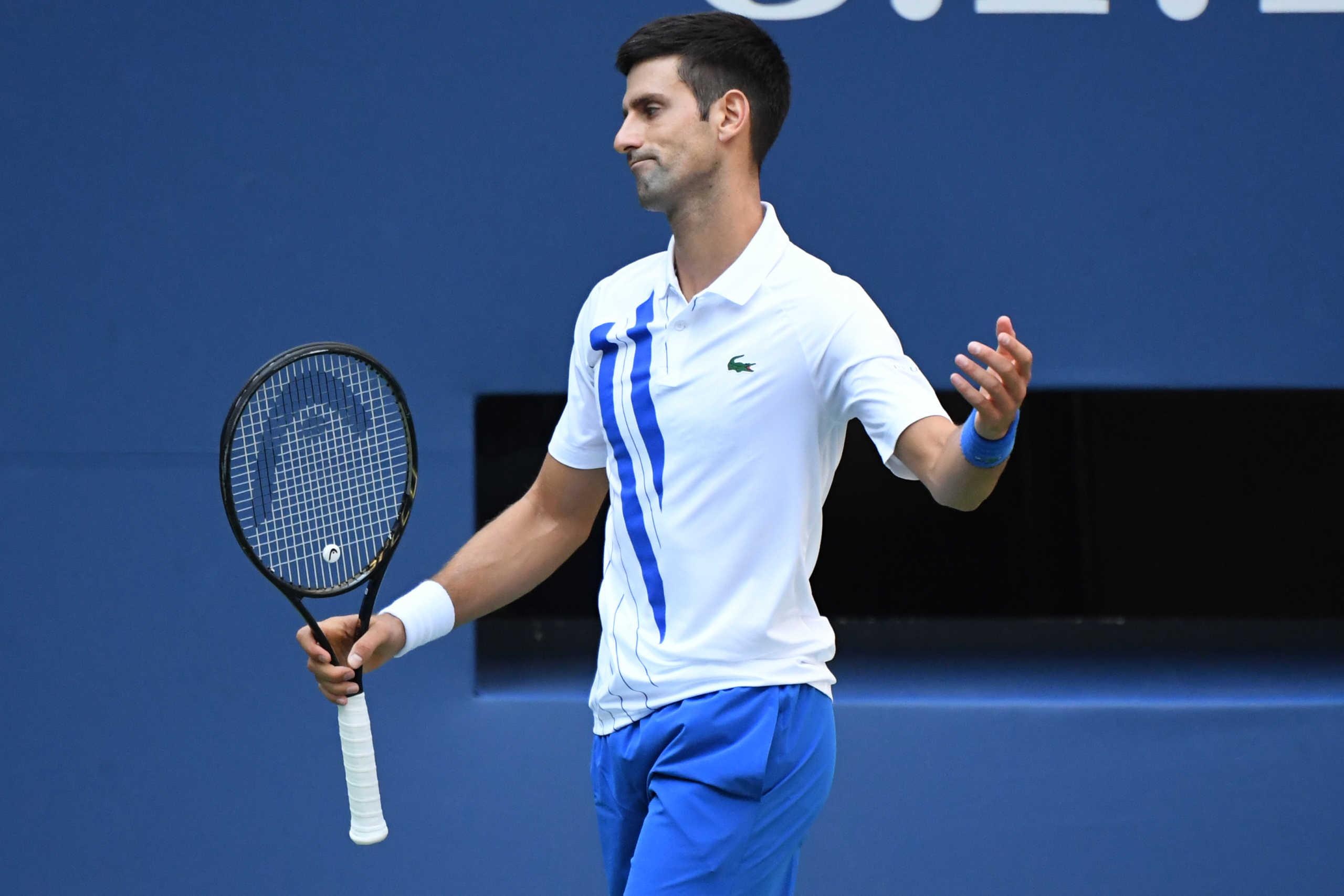 """""""Βόμβα"""" στο US Open: Αποβλήθηκε ο Τζόκοβιτς μετά από χτύπημα επόπτριας (video)"""
