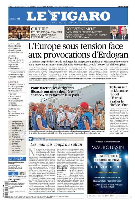Στα μανταλάκια κρεμάει τον Ερντογάν η Figaro – «Θέλει να εκδικηθεί τη ναυμαχία της Ναυπάκτου;»