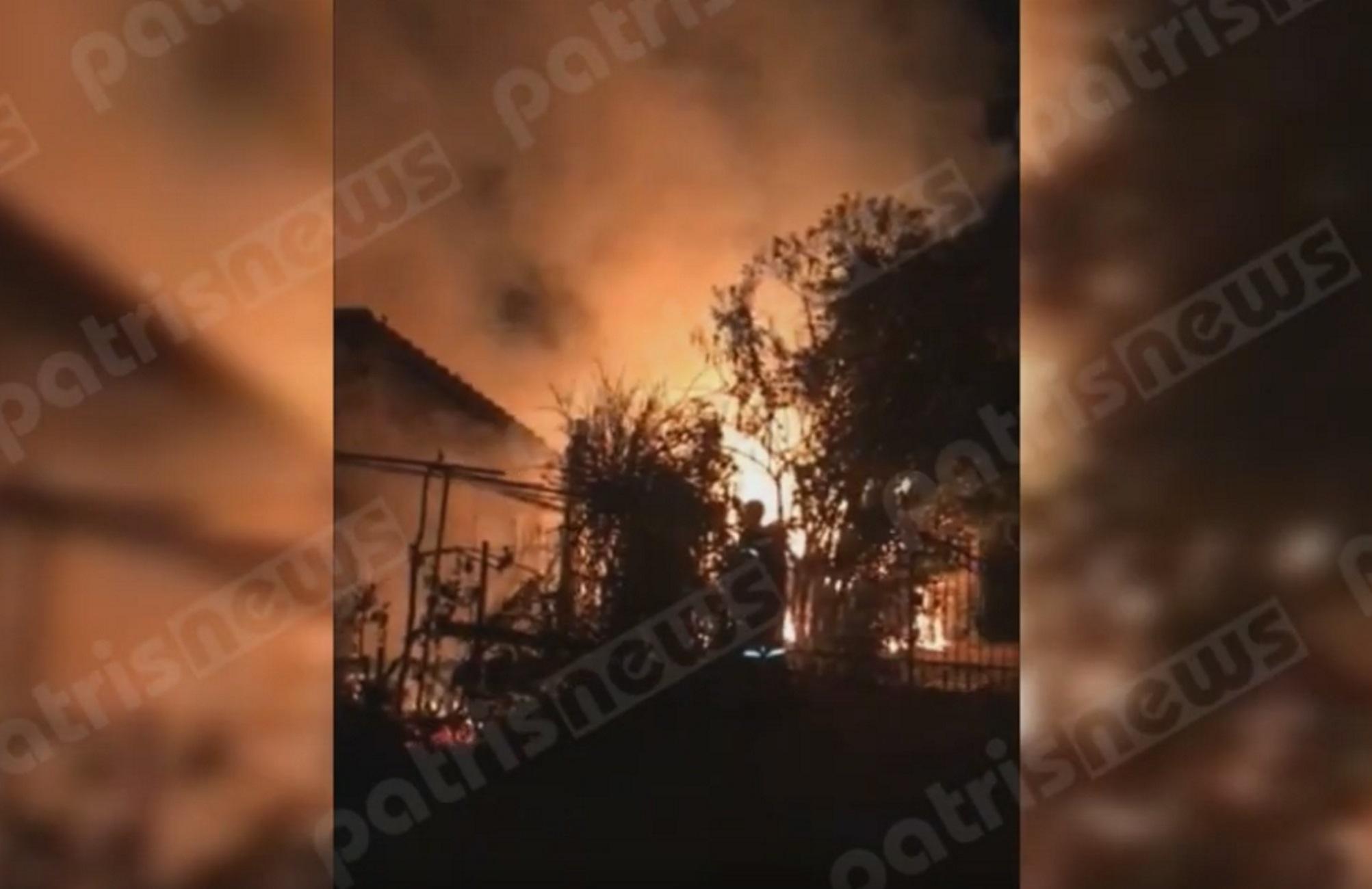 Ηλεία: Μεγάλη φωτιά σε γνωστή ταβέρνα στο Κατάκολο! Στην κάμερα τα πιο δύσκολα λεπτά (Βίντεο)