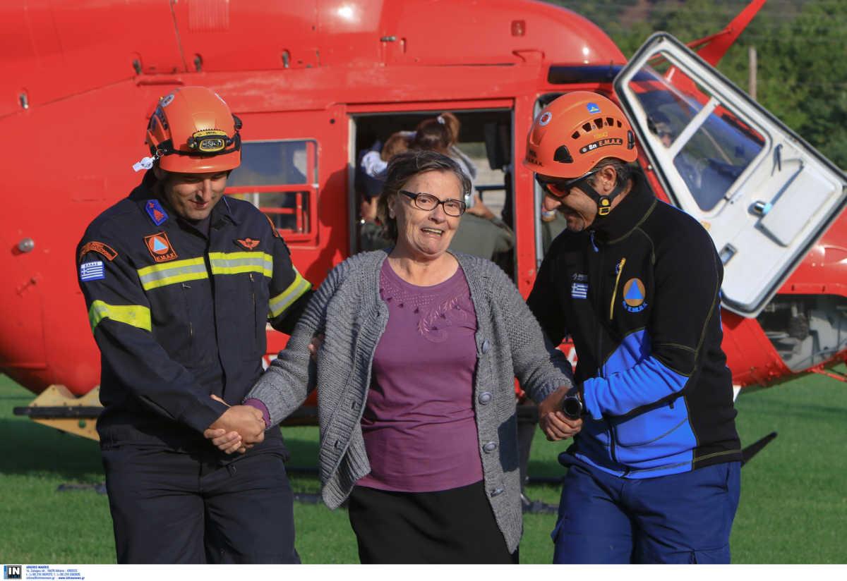 Καρδίτσα: Ελικόπτερα απεγκλωβίζουν τους κάτοικους στην Οξυά [βίντεο]