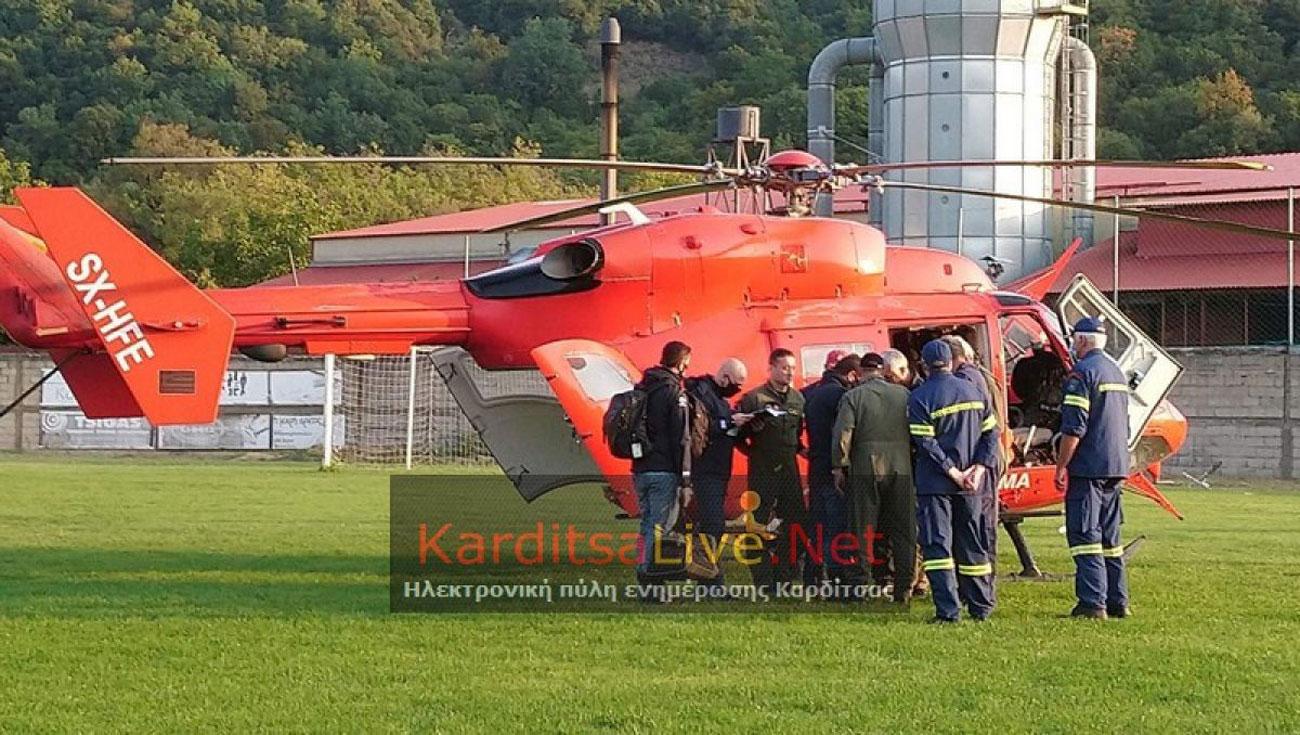 """Καρδίτσα: Νέα επιχείρηση απεγκλωβισμού στην Οξυά – """"Παλεύουν"""" δυο ελικόπτερα"""