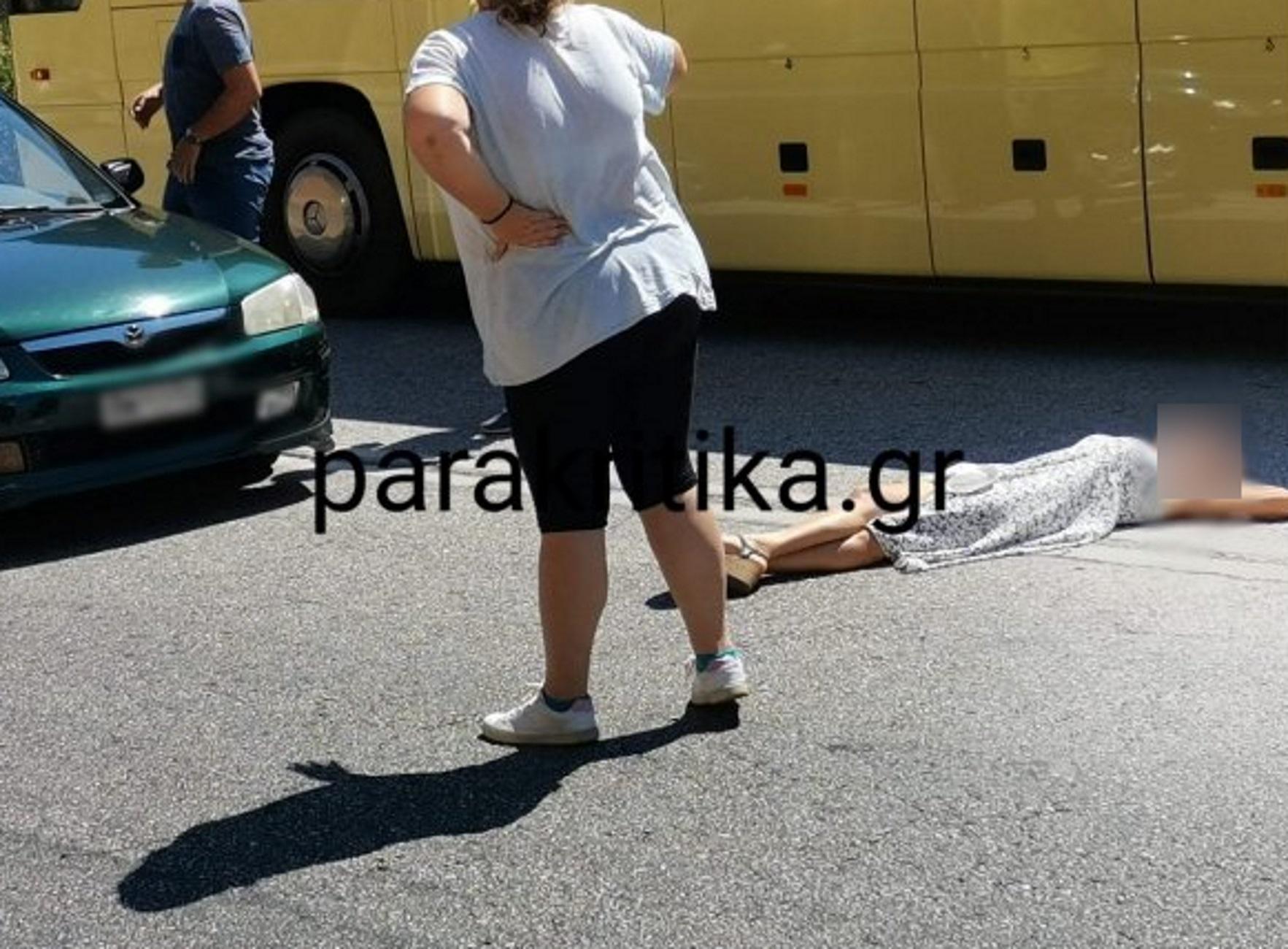 Κρήτη: Η στιγμή που γυναίκα ξαπλώνει στη μέση της εθνικής οδού! Χαμός στον ΒΟΑΚ (Φωτό)