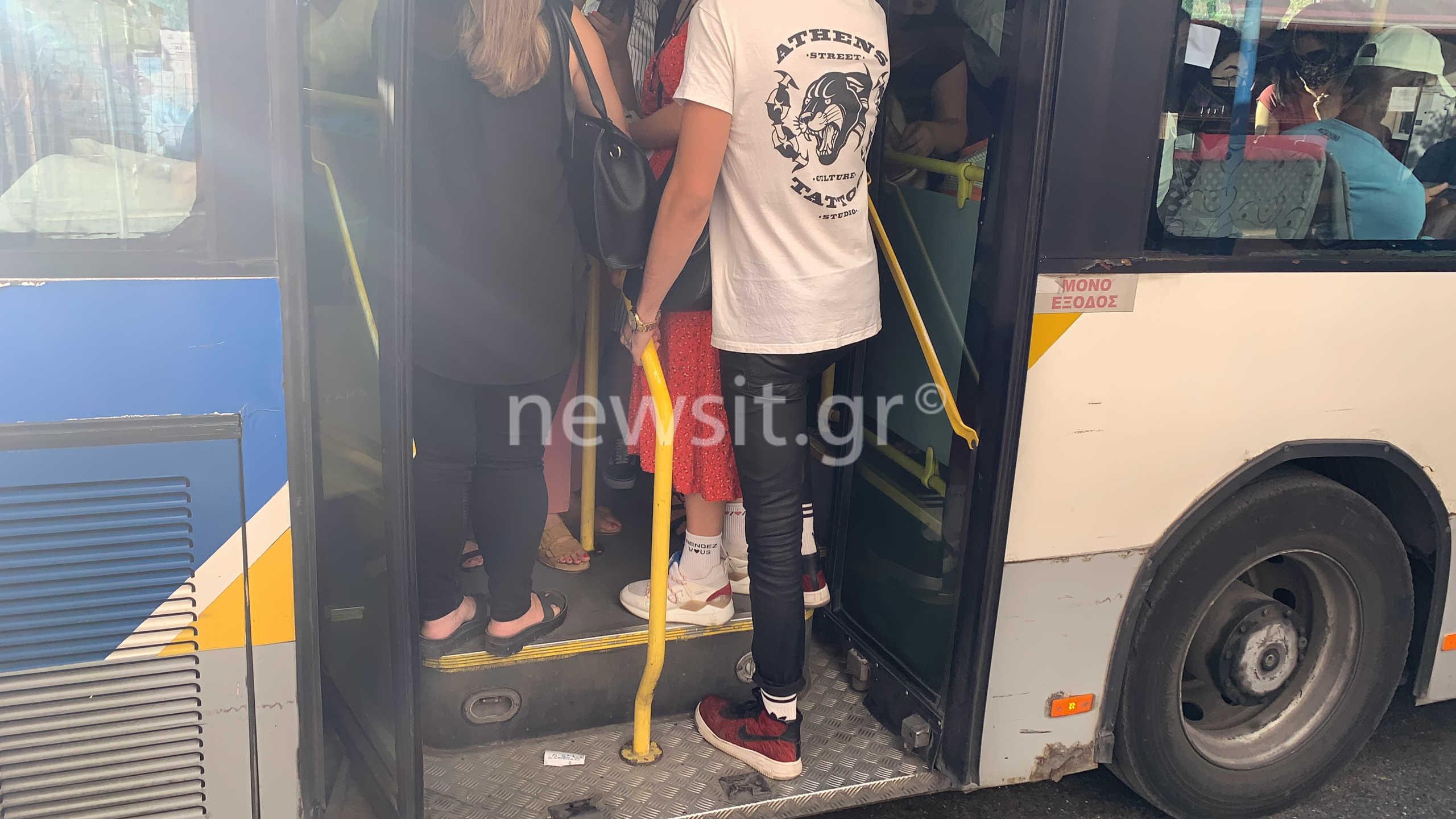 """Κορονοϊός: """"Ανέκδοτο"""" τα μέτρα στα μέσα μεταφοράς! Κόσμος στοιβάζεται σαν τις """"σαρδέλες"""" (pics, video)"""