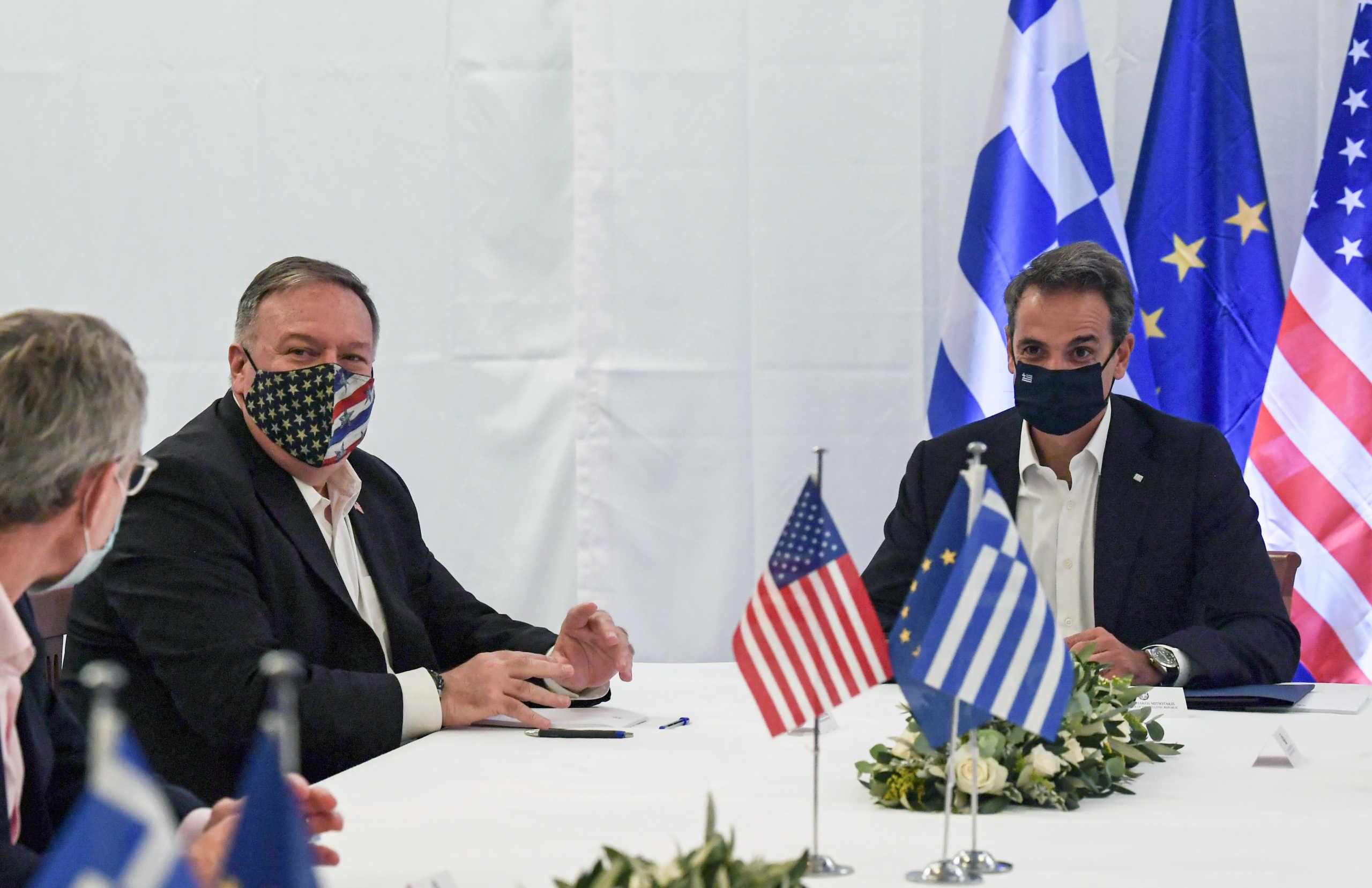 Πομπέο: Βλέπουμε την Ελλάδα σαν έναν πυλώνα σταθερότητας – Μητσοτάκης προς Άγκυρα: Ήρθε η σειρά της διπλωματίας