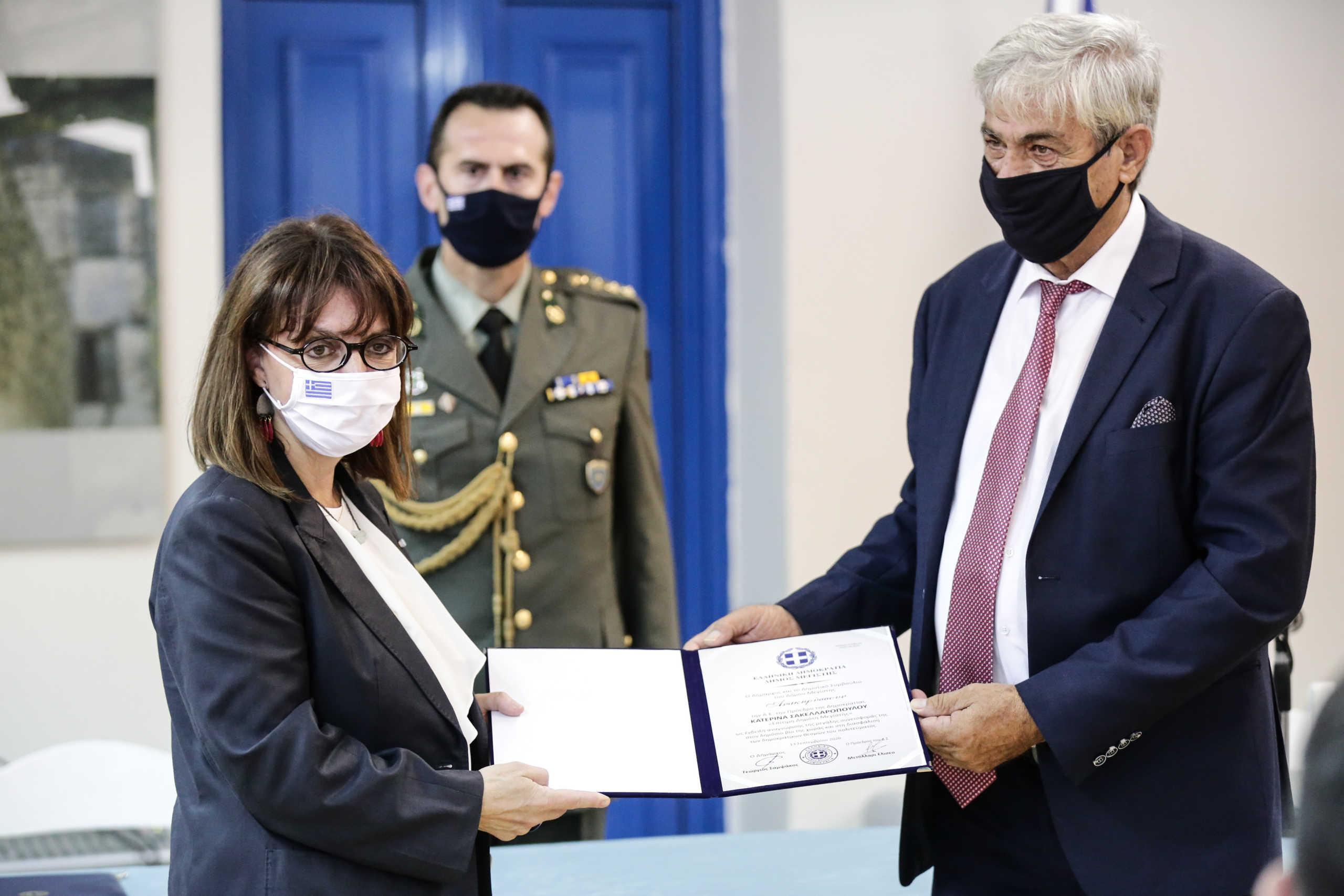 Σακελλαροπούλου από Καστελλόριζο: Η έξαρση της επιθετικής ρητορείας της Τουρκίας δημιουργεί καχυποψία και εχθρότητα