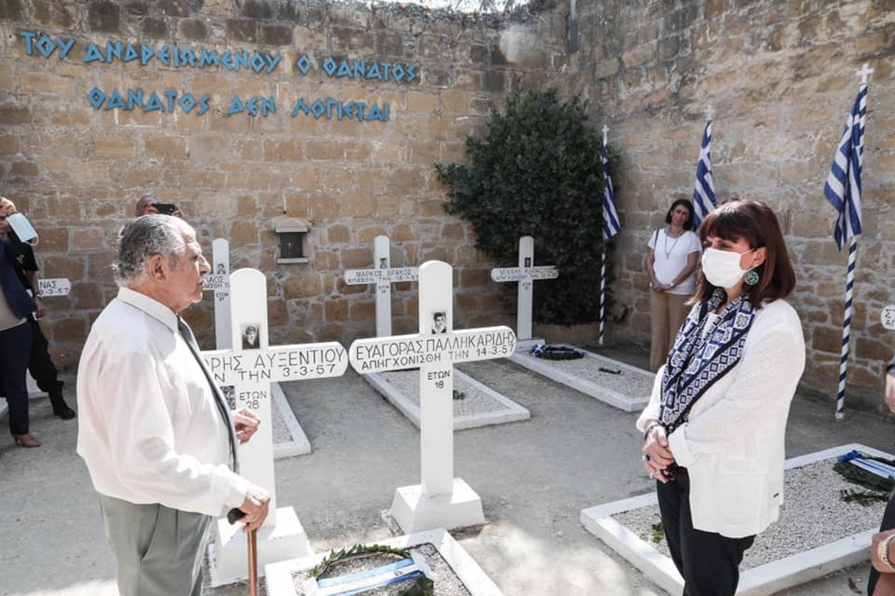 """Το συγκλονιστικό """"αντίο"""" της Κατερίνας Σακελλαροπούλου στην Κύπρο"""