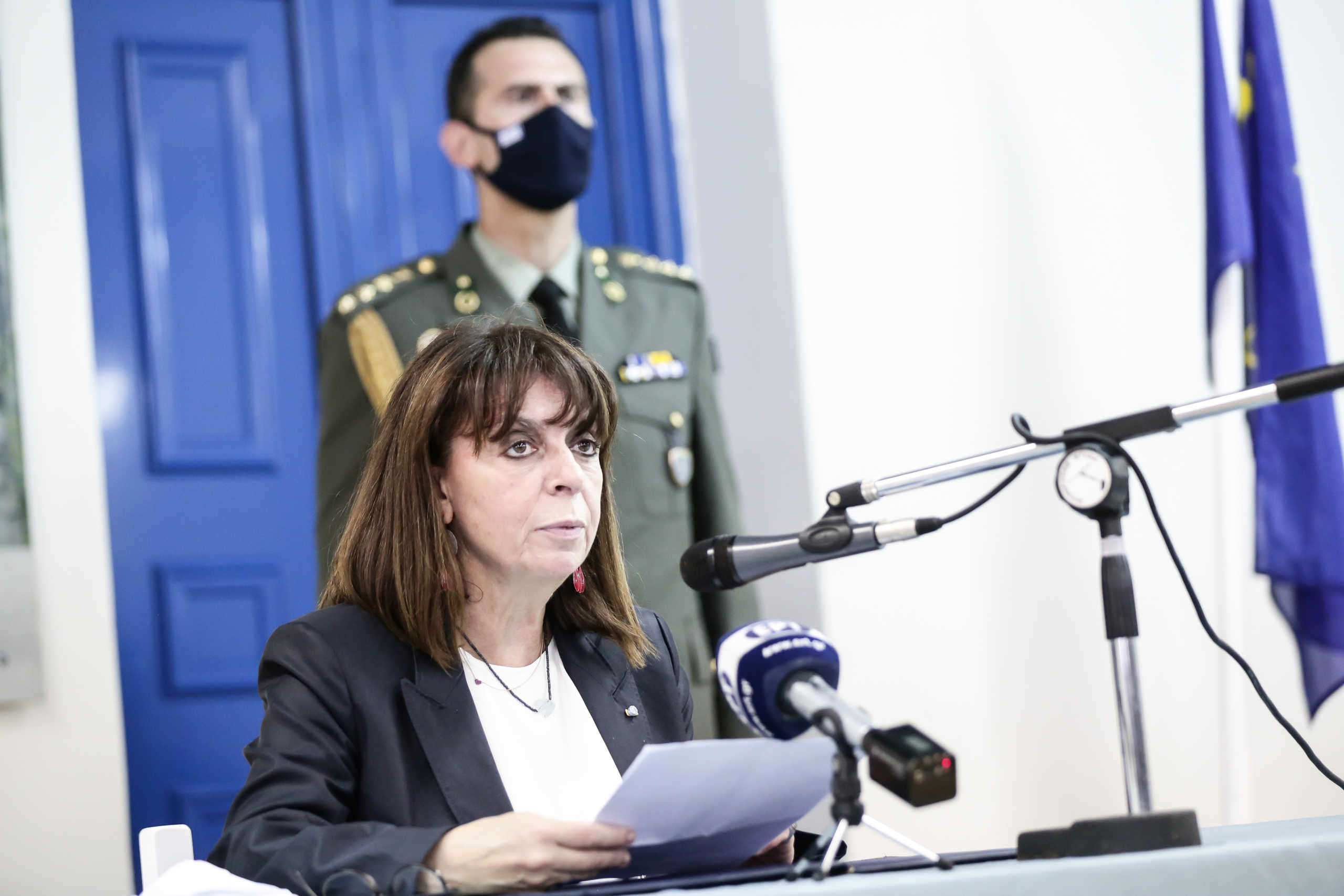 Σακελλαροπούλου από Καστελλόριζο: Δεν υποκύπτουμε σε απειλές – Ελπίζουμε να επικρατήσει η λογική