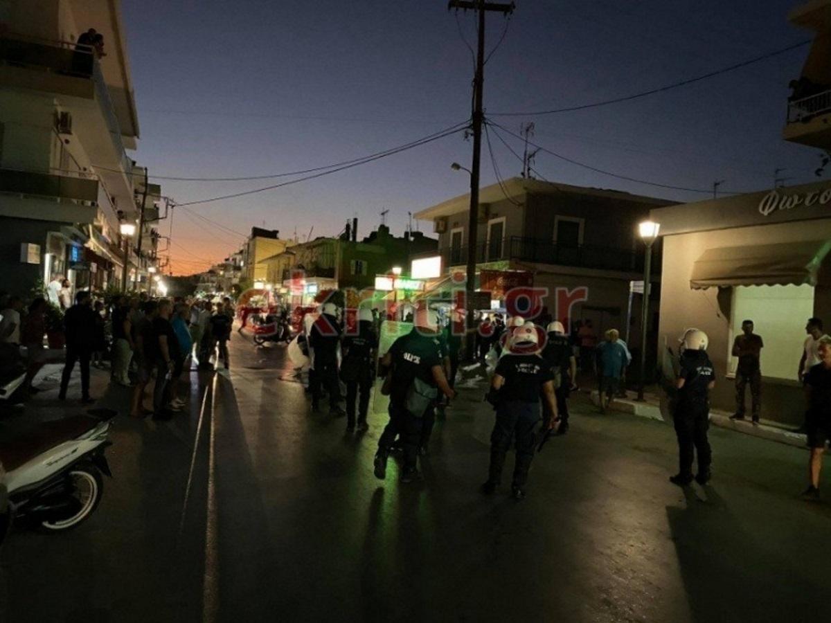 """Επεισόδια και χημικά στην Κρήτη   με """"φόντο"""" τις αιματηρές συμπλοκές με Πακιστανούς – Προσαγωγές και τραυματίας"""