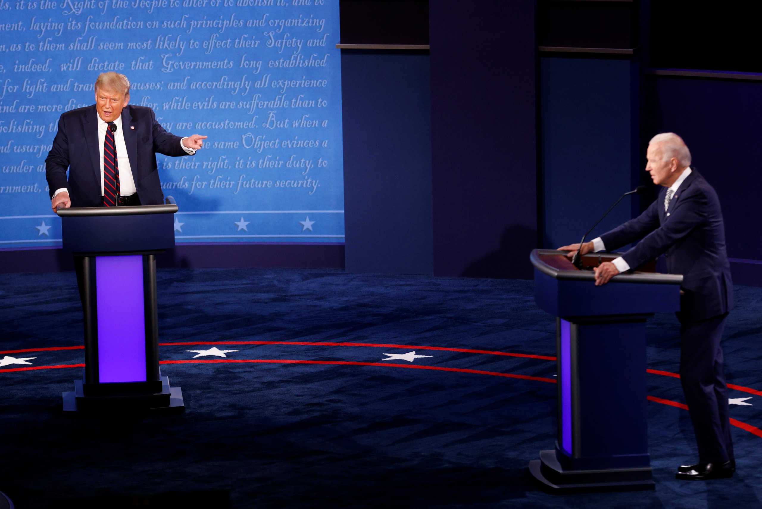 Debate χάους και προσβολών! Τραμπ: Είσαι χαζός – Μπάιντεν: Είσαι καραγκιόζης!