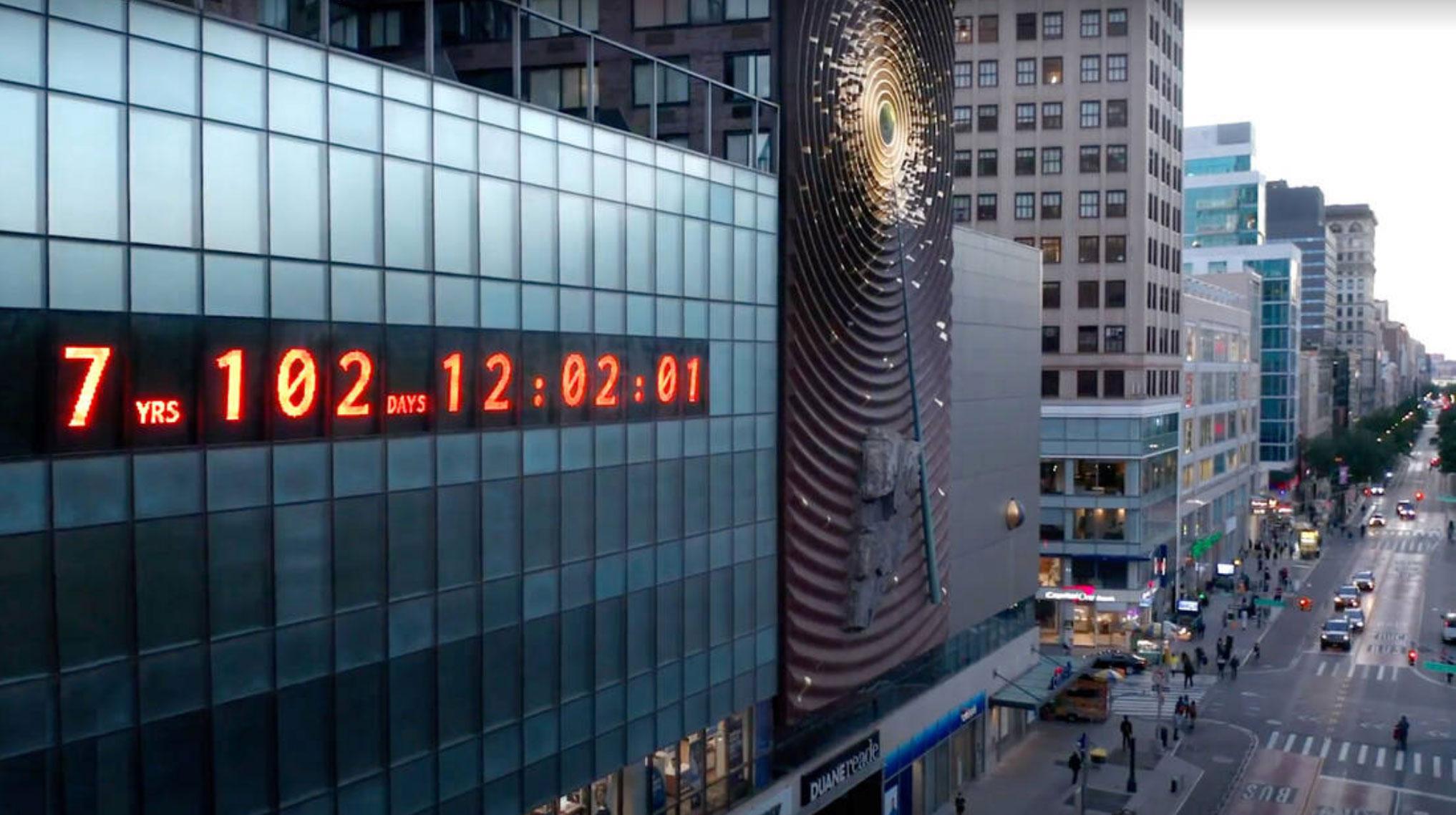 """""""Climate Clock"""": Το ρολόι της κλιματικής αλλαγής μετράει το… χρόνο της ανθρωπότητας αντίστροφα"""