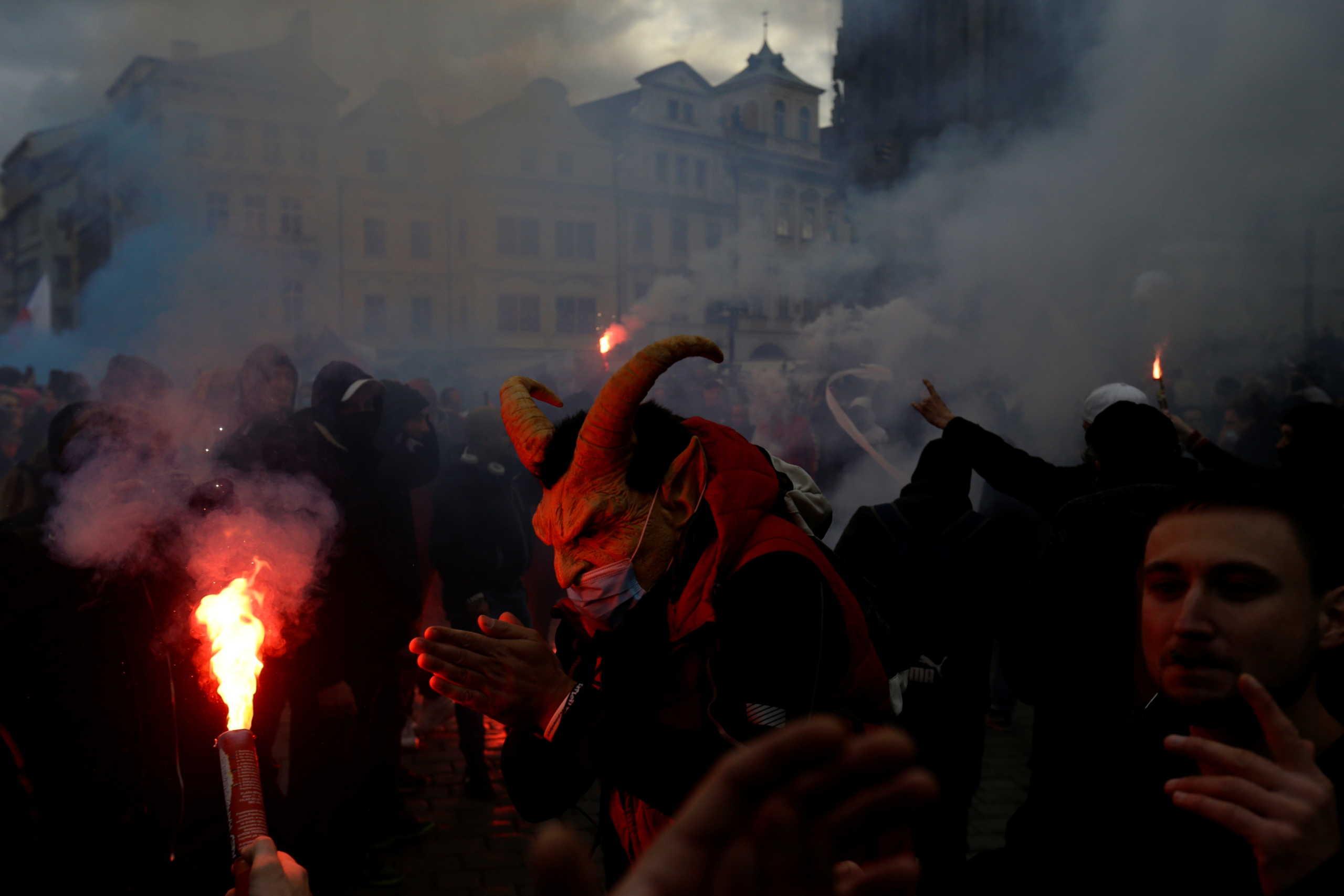 Τσεχία διαδηλωτές