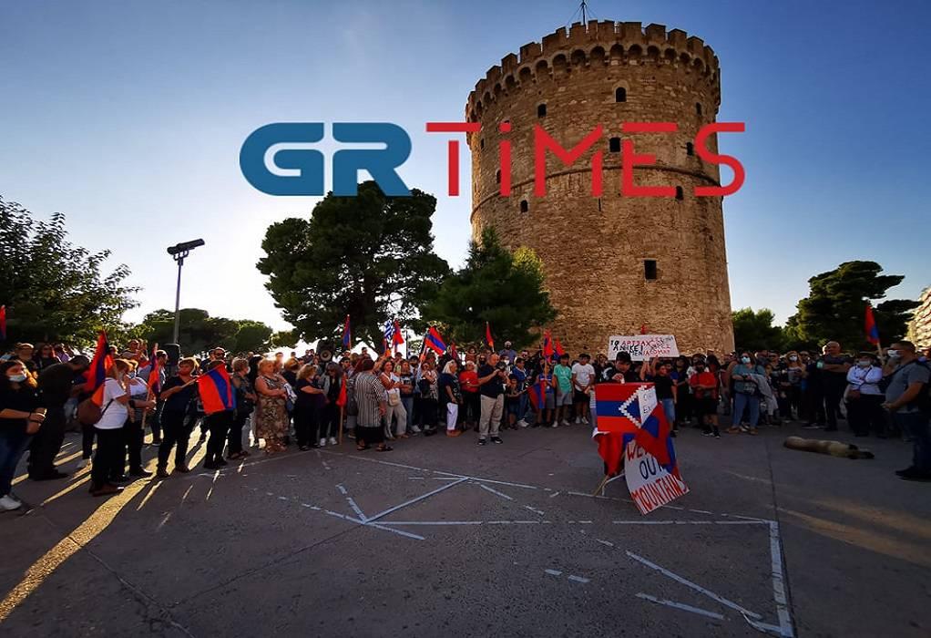 """Θεσσαλονίκη: Αρμένιοι στους δρόμους για το Ναγκόρνο Καραμπάχ! """"Όχι στη βία των Αζέρων"""" (Βίντεο)"""