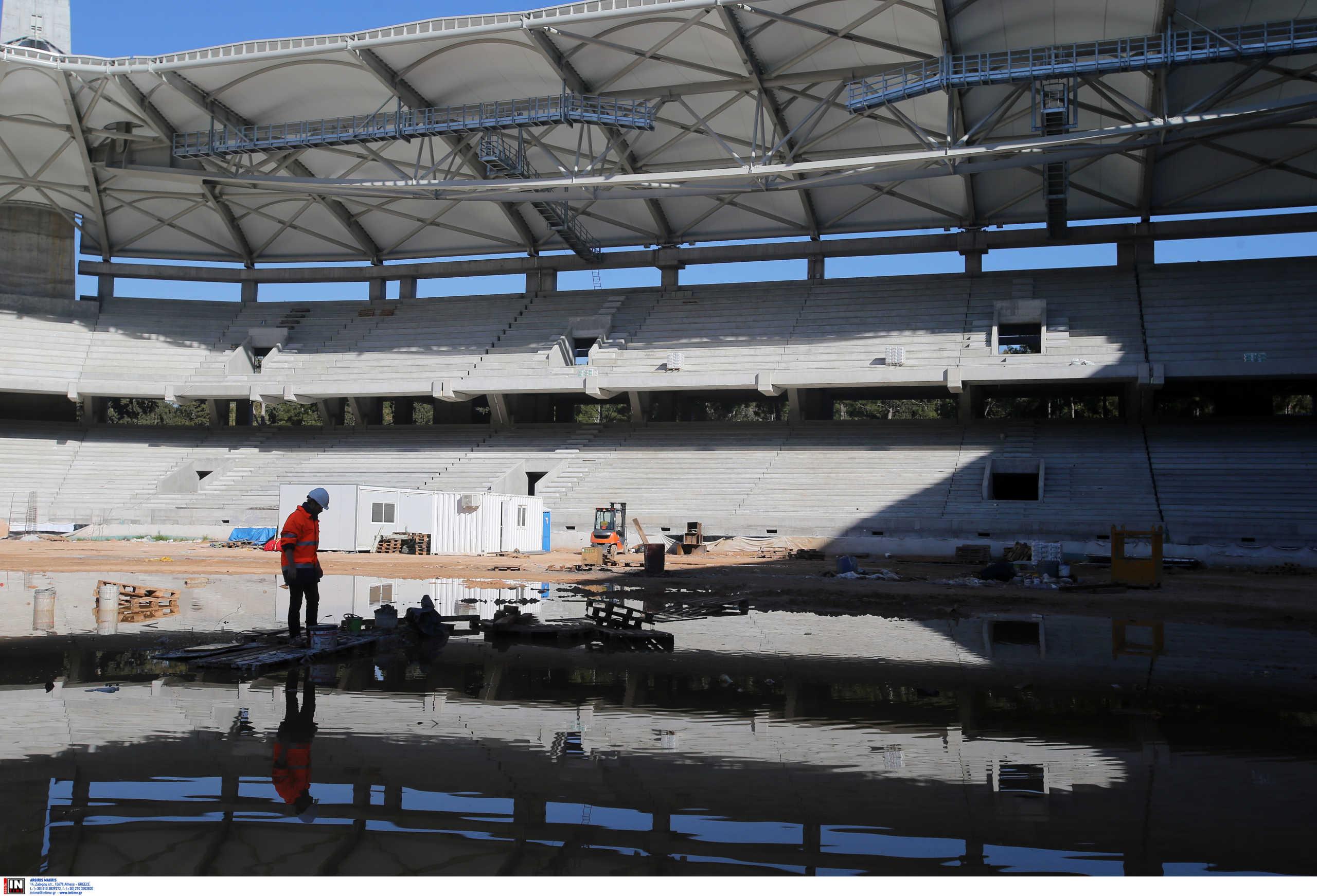 """Γήπεδο ΑΕΚ: """"Μπήκαν"""" τα πρώτα καθίσματα στην """"Αγιά – Σοφιά"""" (video)"""