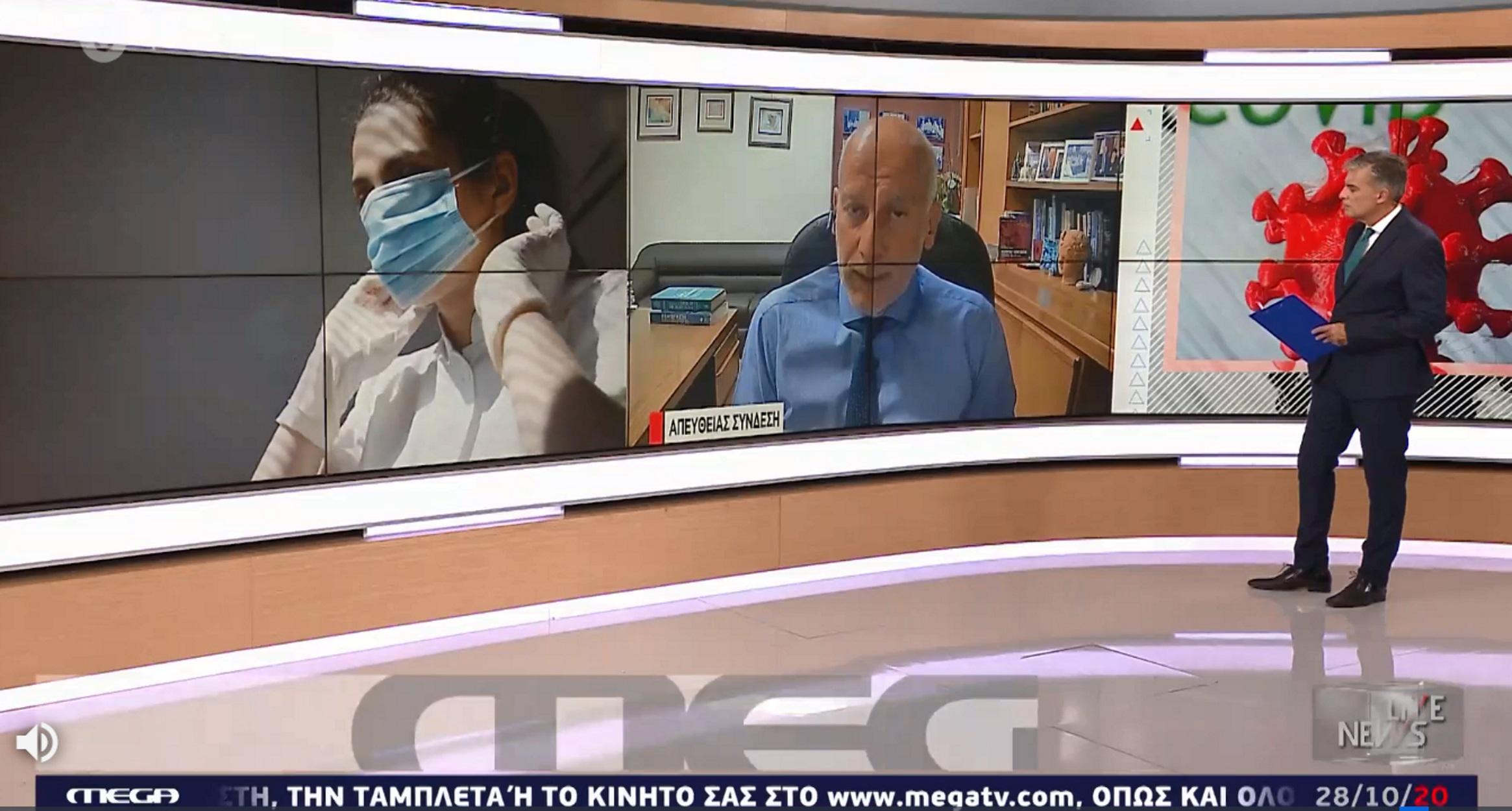 Τσακρής στο Live News: Τώρα αρχίζει το πραγματικό κύμα του κορονοϊού – Εφιαλτική εκτίμηση για 14000 νεκρούς! (video)