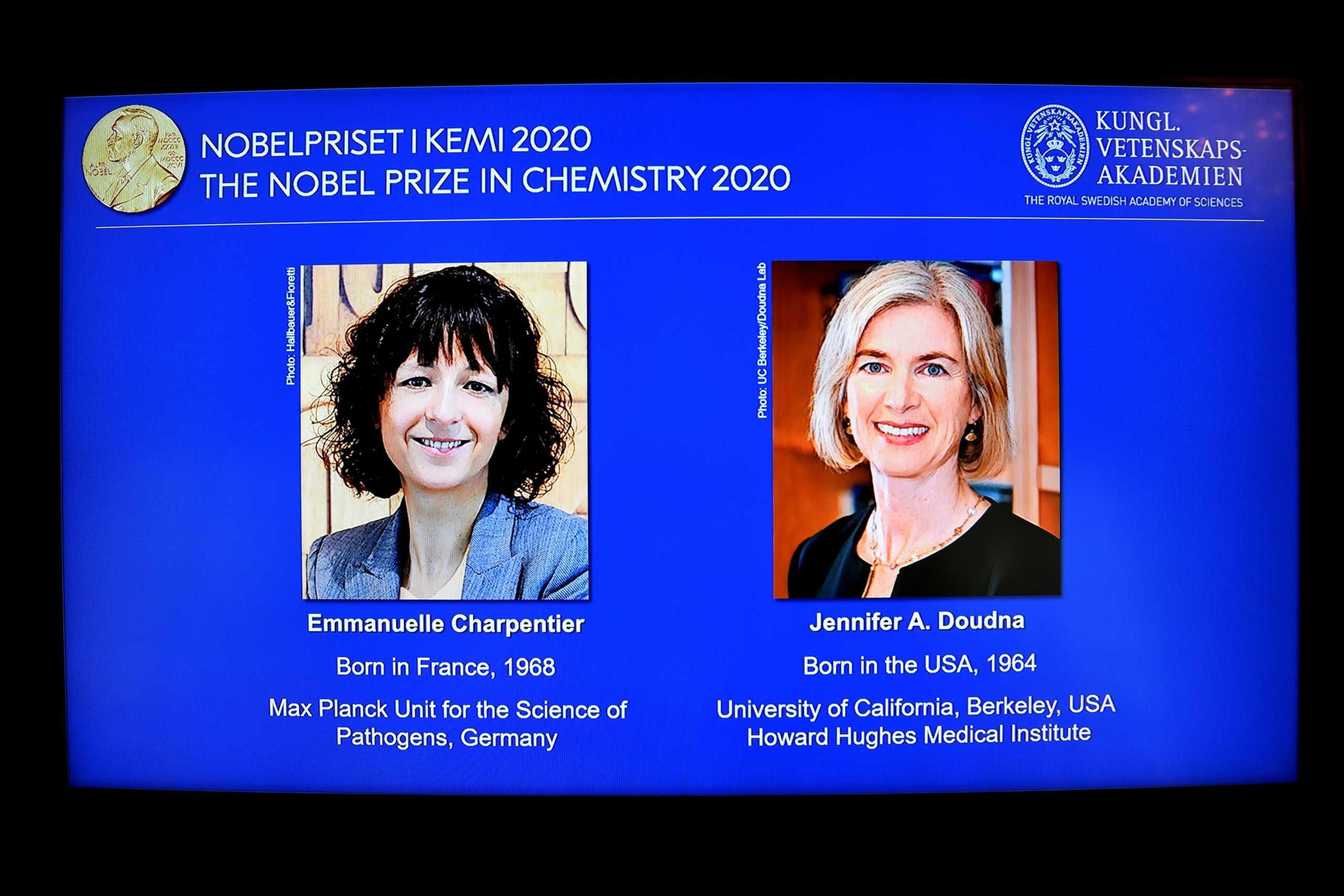 """Νόμπελ Χημείας 2020: Σε δύο γυναίκες για την """"επανεγγραφή του κώδικα της ζωής"""""""