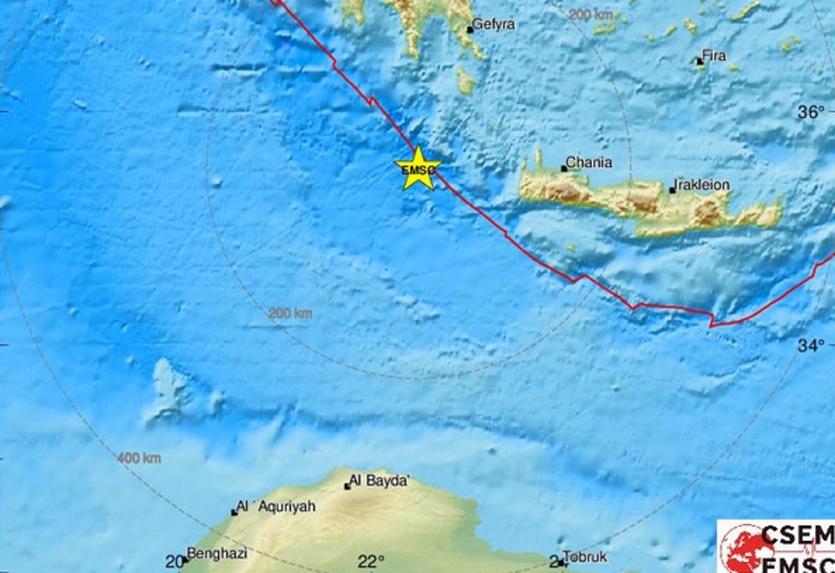Δυνατός σεισμός κοντά στα Αντικύθηρα