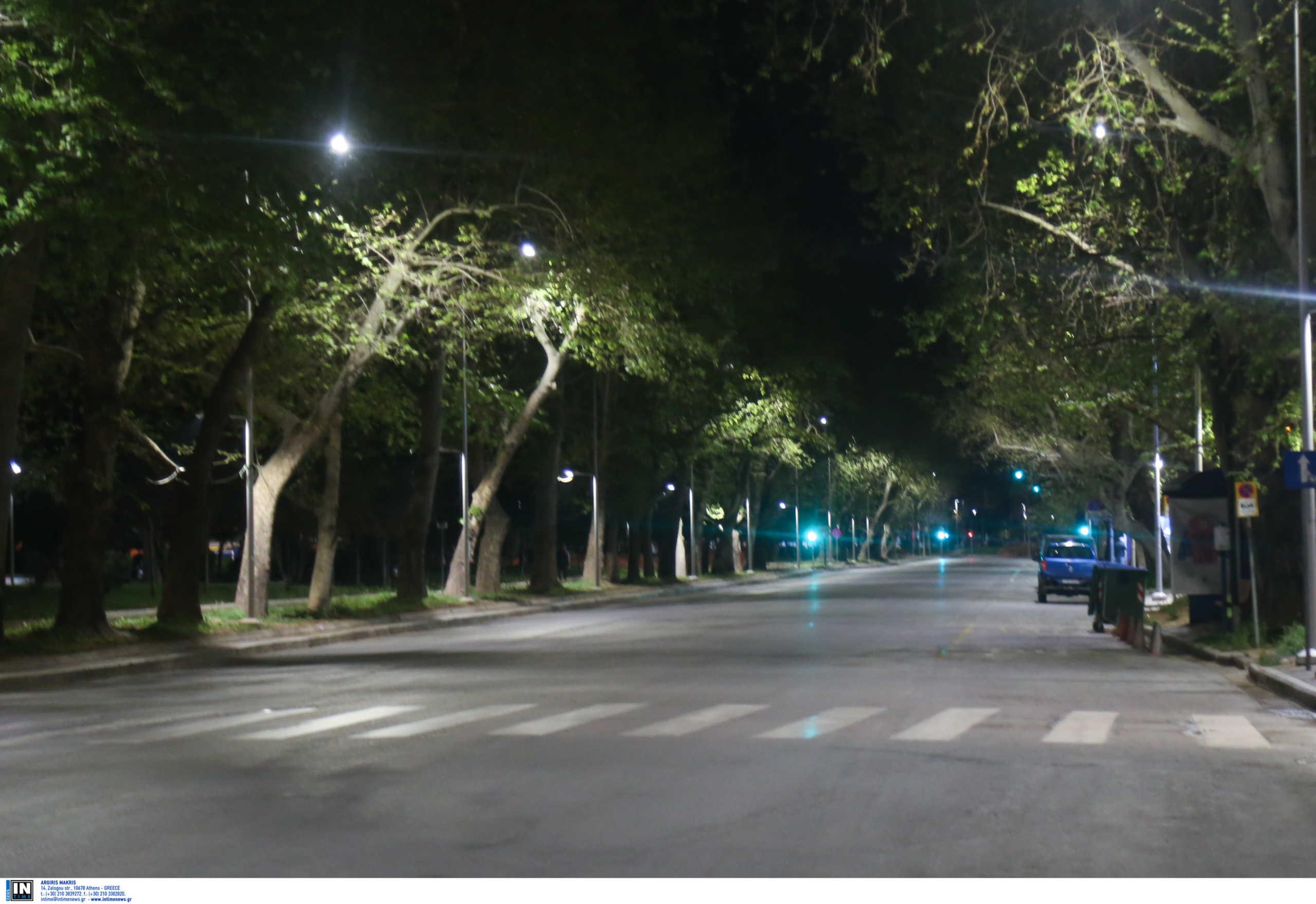 απαγόρευση κυκλοφορίας στην Αθήνα και άδειοι δρόμοι