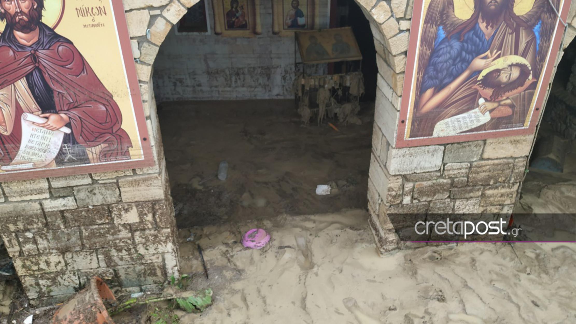 Πλημμύρες στο Ηράκλειο Κρήτης