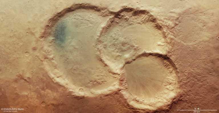Αυτός είναι ο σπάνιος κρατήρας του Άρη – Πως δημιουργήθηκε πριν 4 δισ. χρόνια (pic)