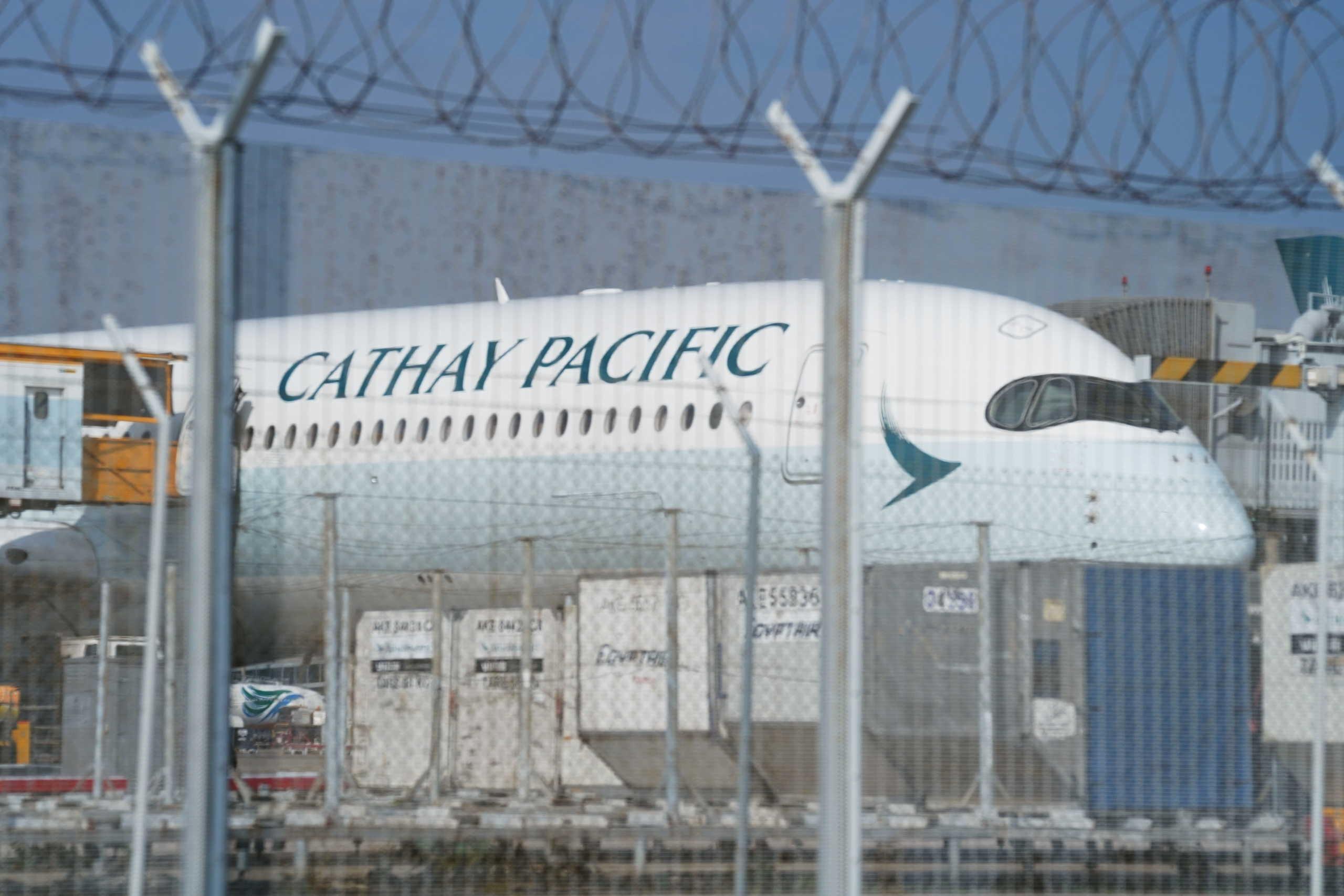 αεροπλάνο της αεροπορικής εταιρίας Cathay Pacific