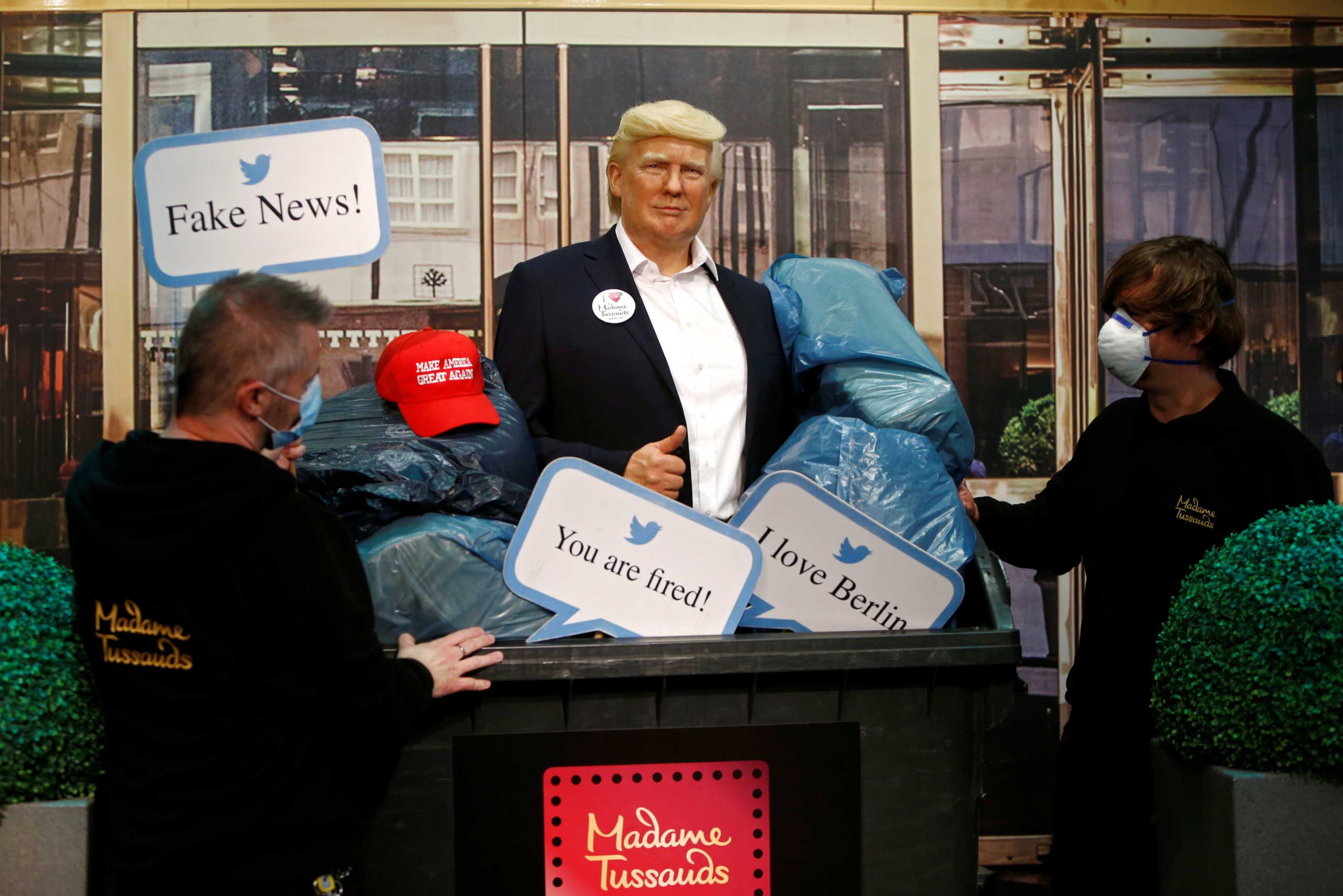 Το μουσείο της Μαντάμ Τισό πέταξε στα σκουπίδια το ομοίωμα του Ντόναλντ Τραμπ