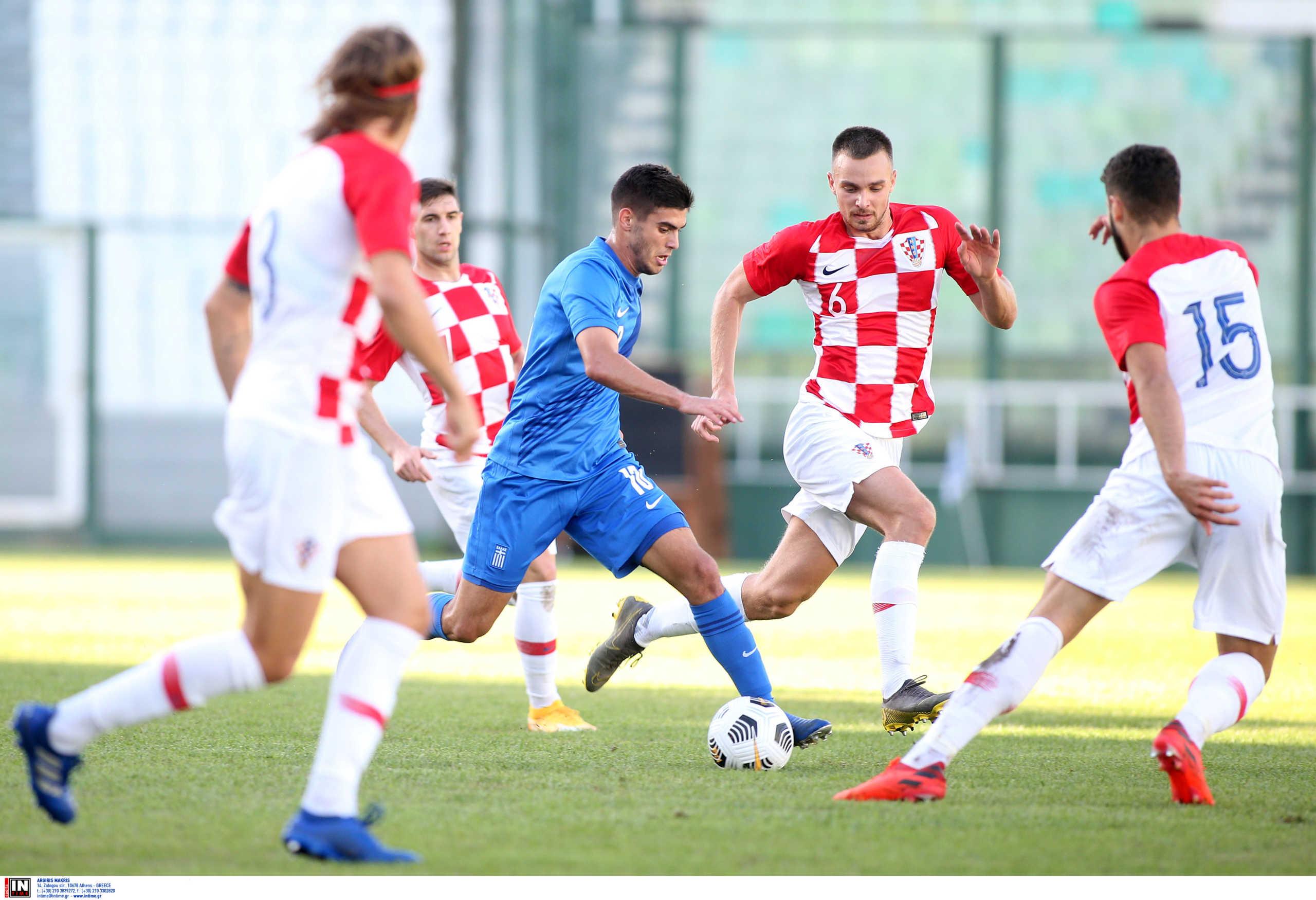 Ήττα για την Εθνική U21 από την Κροατία – Ελπίζει σε… θαύμα