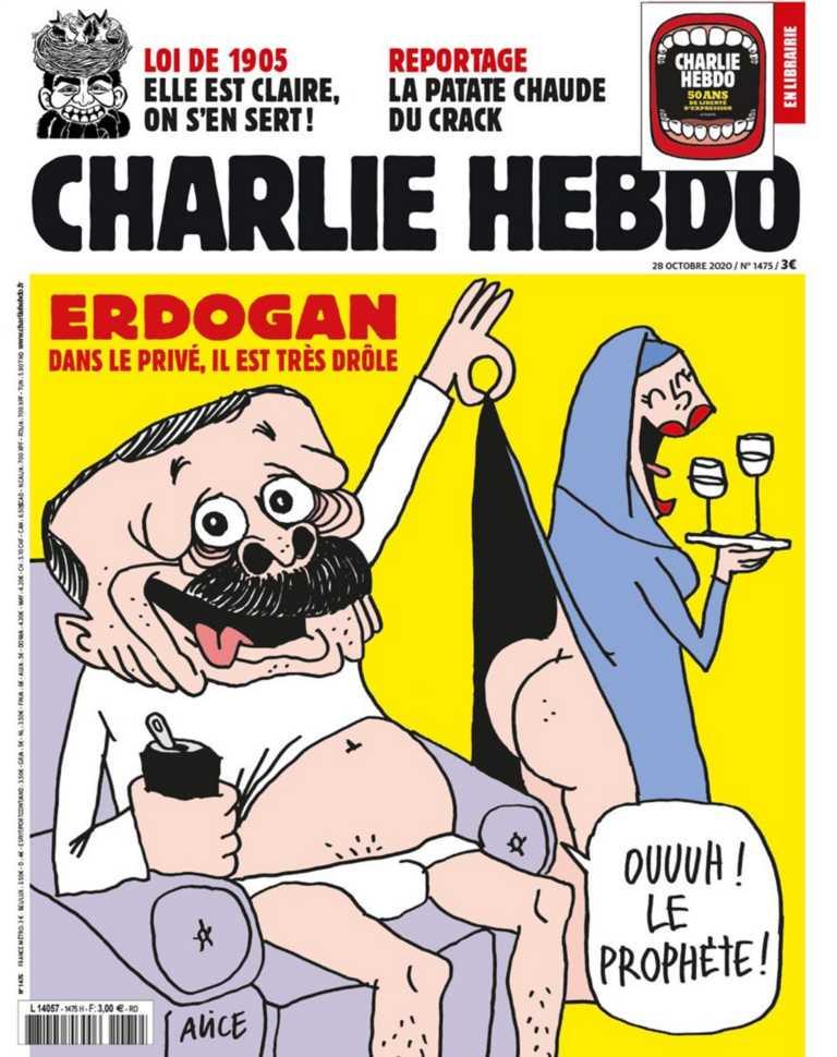"""Οργισμένη αντίδραση της Τουρκίας για το σκίτσο του Charlie Hebdo! """"Μας δείχνει τη χυδαιότητά του"""""""