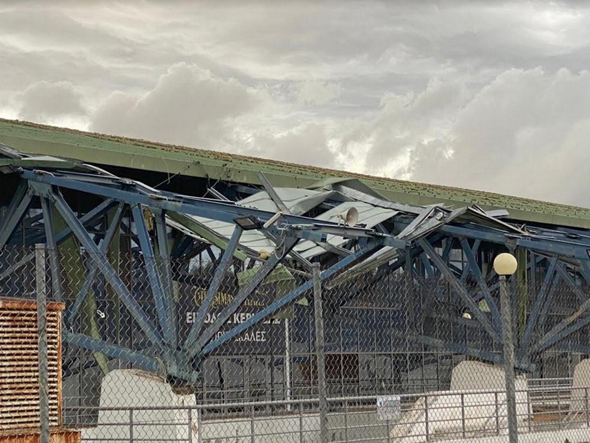Ισχυρός ανεμοστρόβιλος προκάλεσε σοβαρές ζημιές στο Ολυμπιακό Κέντρο Γαλατσίου (pics)