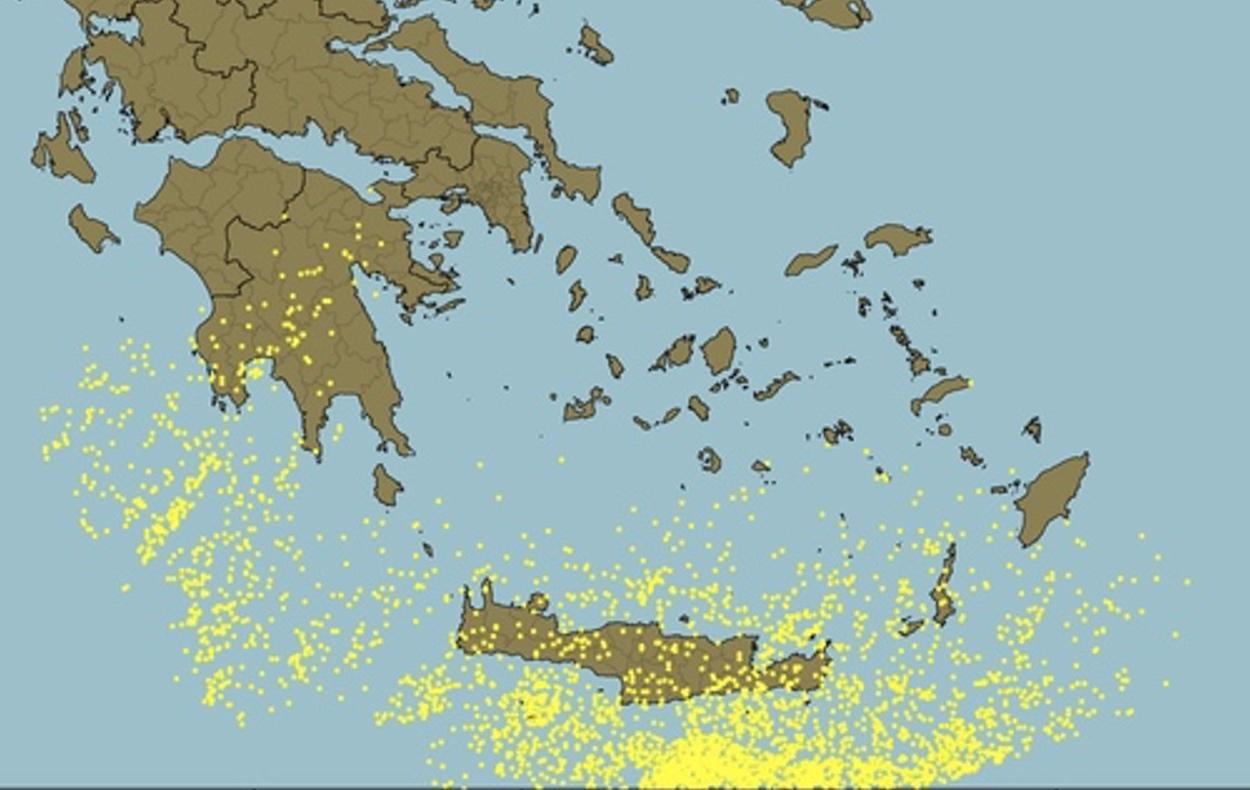 Καιρός: 3.800 κεραυνοί σε λίγες ώρες στην Κρήτη! Που έριξε το περισσότερο νερό