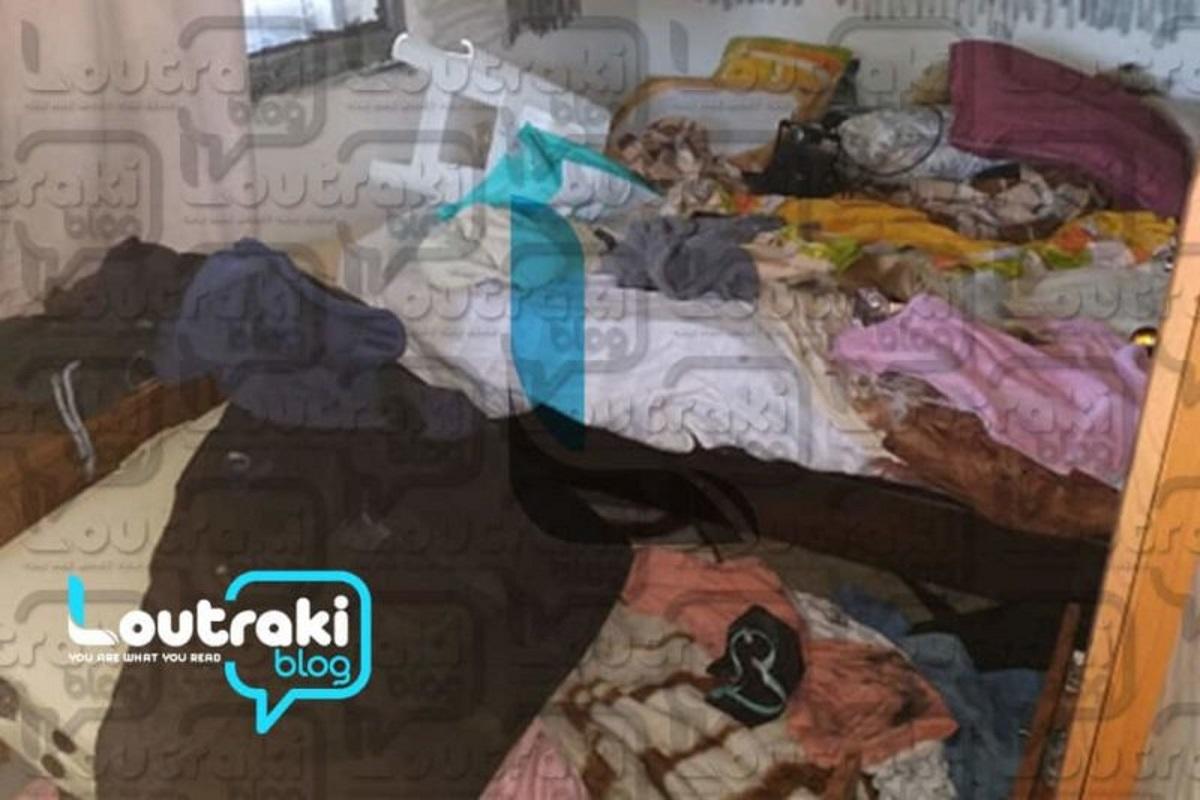 Μέσα στο σπίτι της διπλής δολοφονίας στο Λουτράκι (video)