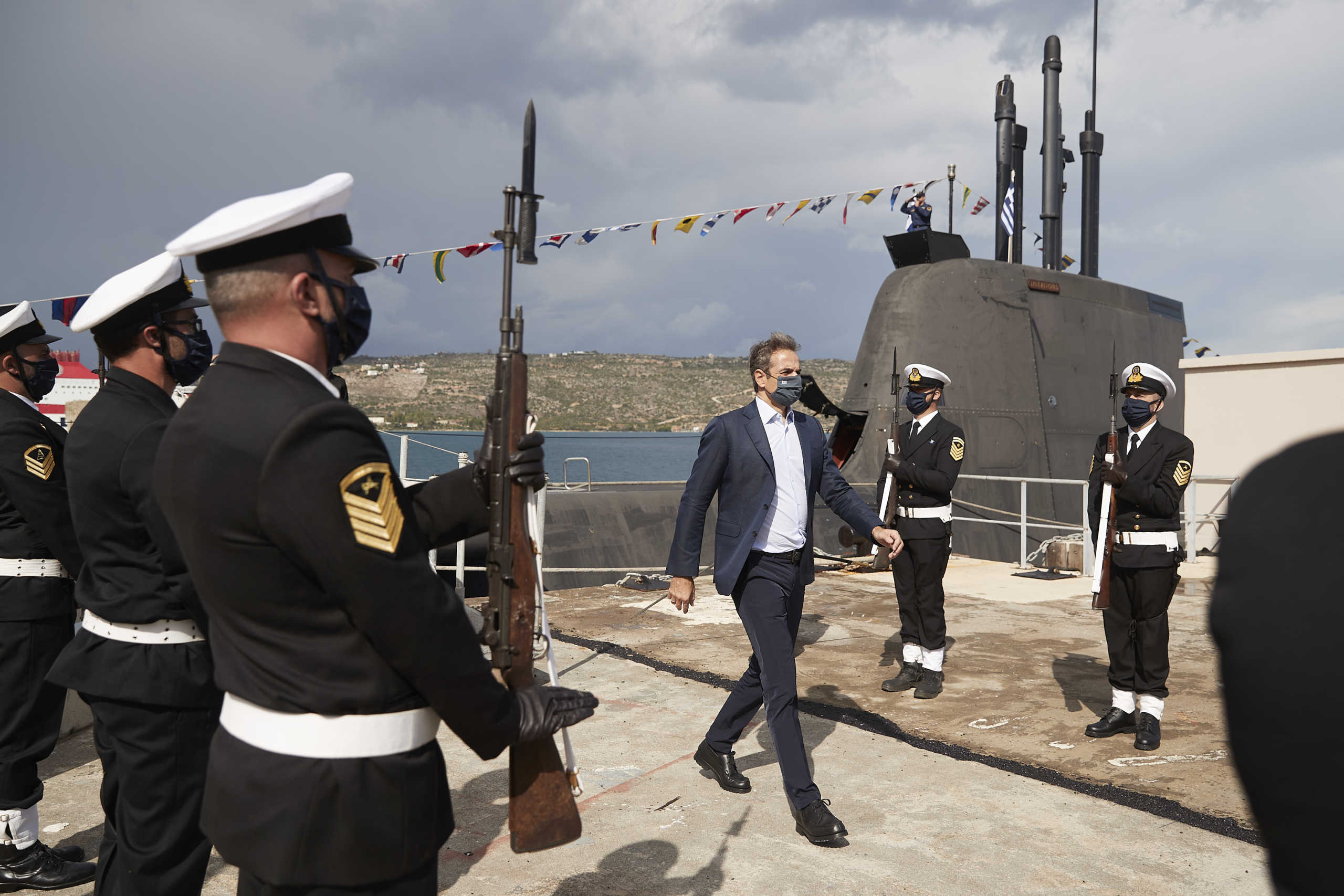 """Στο υποβρύχιο """"Κατσώνης"""" ο Κυριάκος Μητσοτάκης – Το μήνυμα για την 28η Οκτωβρίου (pics, video)"""