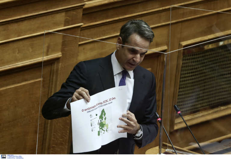 Κορονοϊός: Αυτοί είναι οι χάρτες που έδειξε ο Μητσοτάκης στη Βουλή – Τι δείχνουν τα στοιχεία για την Ελλάδα