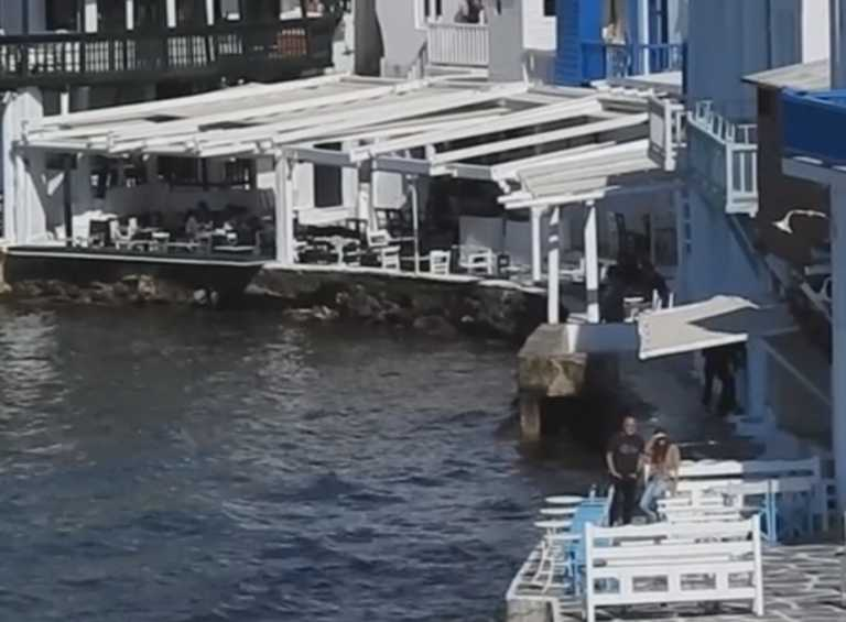 Μύκονος: Η κάμερα γυρίζει στη Μικρή Βενετία και καταγράφει εικόνες που θα δουν εκατομμύρια τηλεθεατές (Βίντεο)