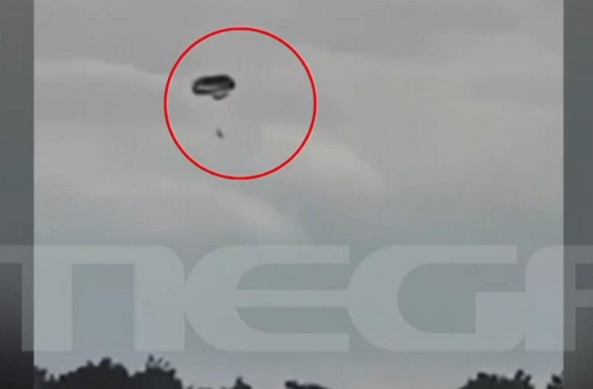 Βίντεο ντοκουμέντο: Το μοιραίο αλεξίπτωτο στον αέρα με τα αδέρφια που σκοτώθηκαν στη Ρόδο (video)