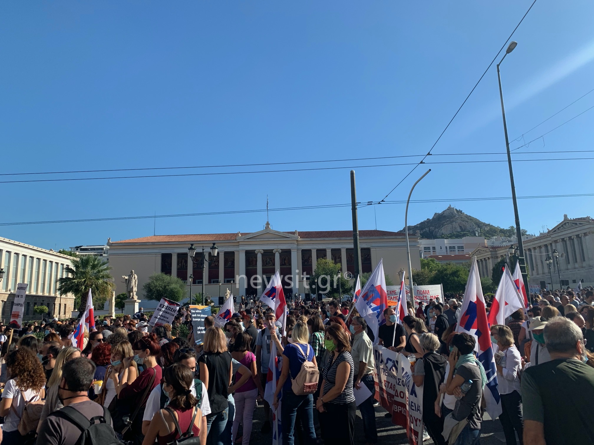 Απεργία ΑΔΕΔΥ: Αδιάβατο το κέντρο! Γιατί υπάρχουν καθυστερήσεις σε τρόλεϊ και λεωφορεία από το πρωί!