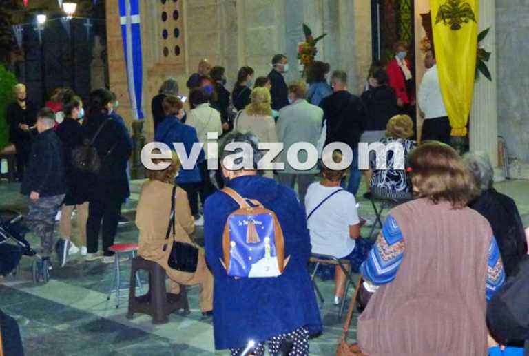 Χαλκίδα: Ουρές πιστών στο ναό του Αγίου Δημητρίου (video)