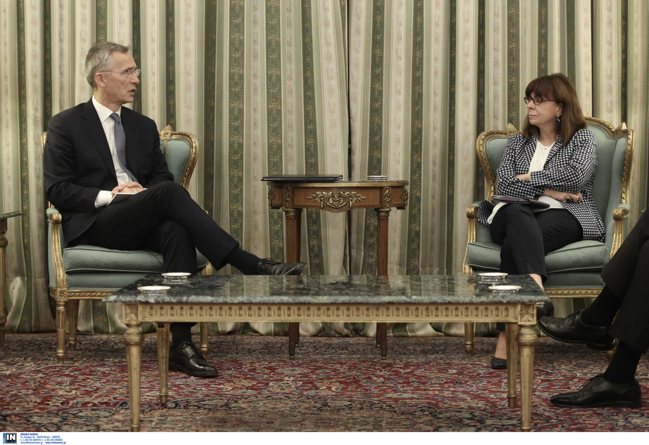 Ξεκάθαρη η Πρόεδρος της Δημοκρατίας στον Στόλτενμπεργκ: Στείλτε σαφές μήνυμα στην Άγκυρα