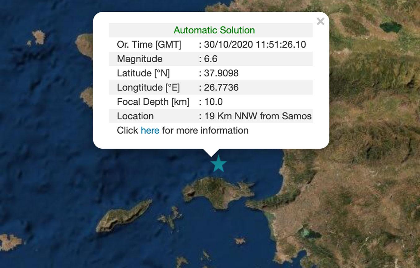 Σεισμός ΤΩΡΑ αισθητός στην Αθήνα – 6,6 ρίχτερ σύμφωνα με το Γεωδυναμικό Ινστιτούτο