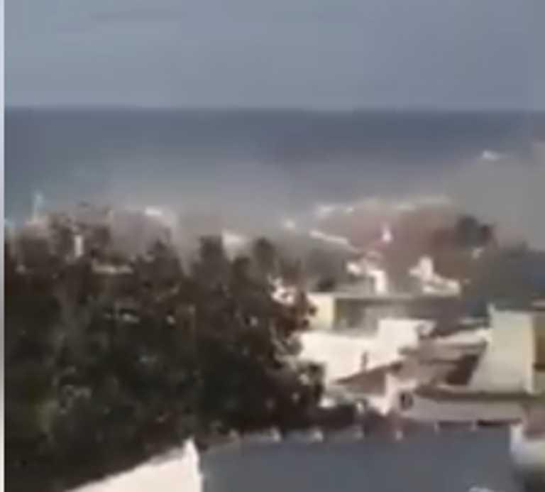 Σεισμός στη Σάμο: Σύννεφο σκόνης από τα 6,7 ρίχτερ (video)