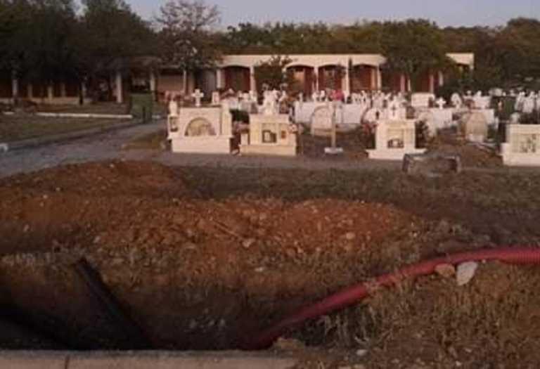 Θεσσαλονίκη: Σκάβουν νέους τάφους για τα θύματα του κορονοϊού! Οι πρώτες εικόνες στον Εύοσμο (Φωτό)