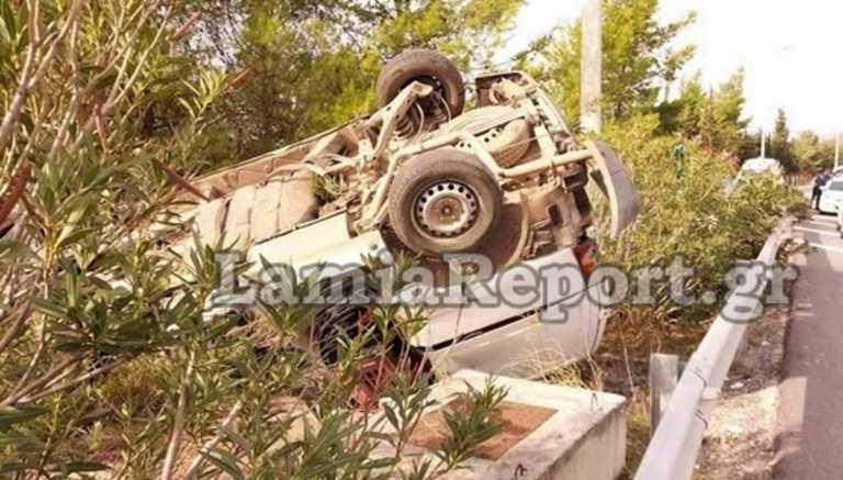 Εθνική Οδός: Σώθηκε για λίγα εκατοστά! Αυτοψία στο σημείο του φοβερού τροχαίου στη Φθιώτιδα (Φωτό)