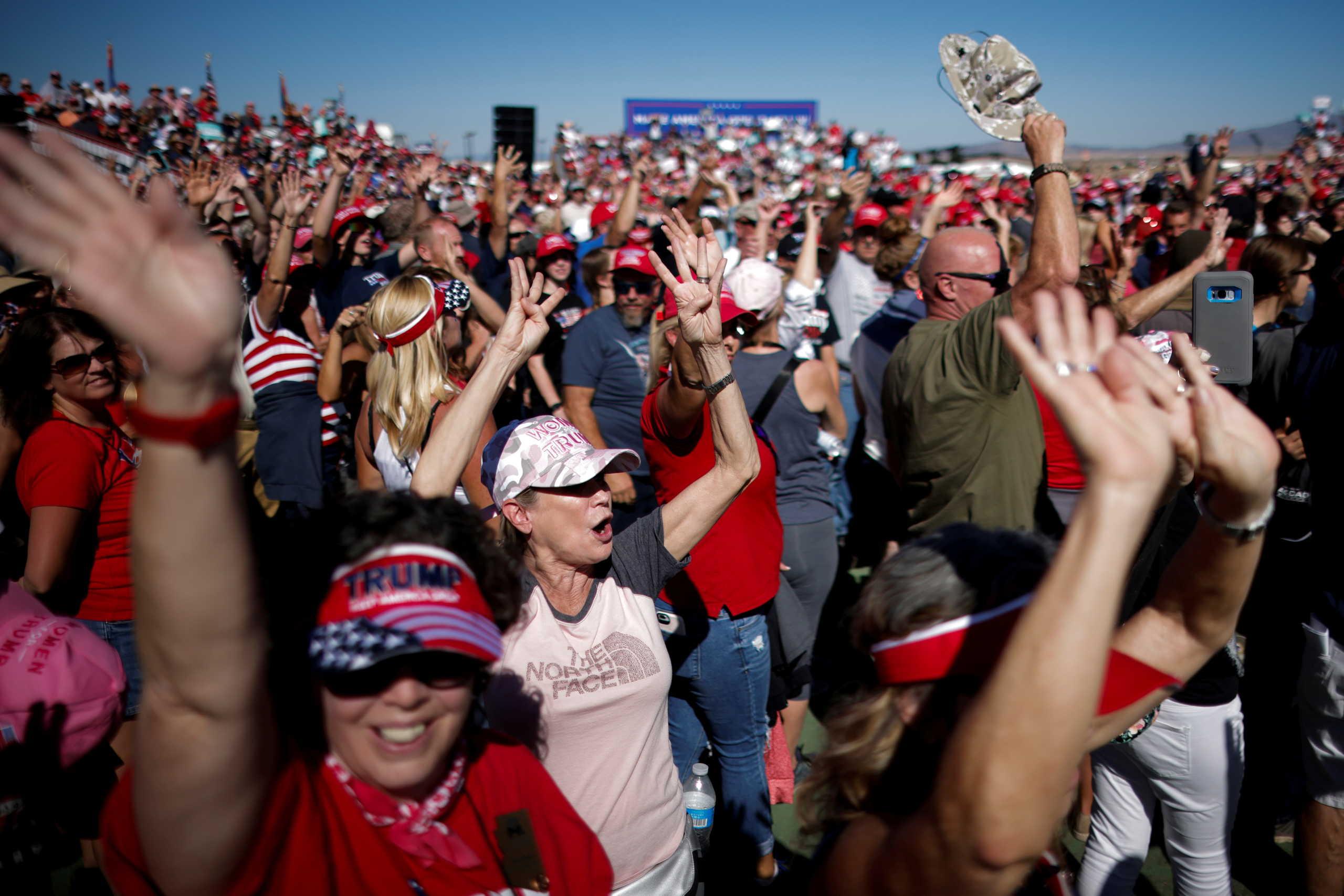 Υποστηρικτές του Ντόναλντ Τραμπ στι; αμερικάνικες εκλγοές