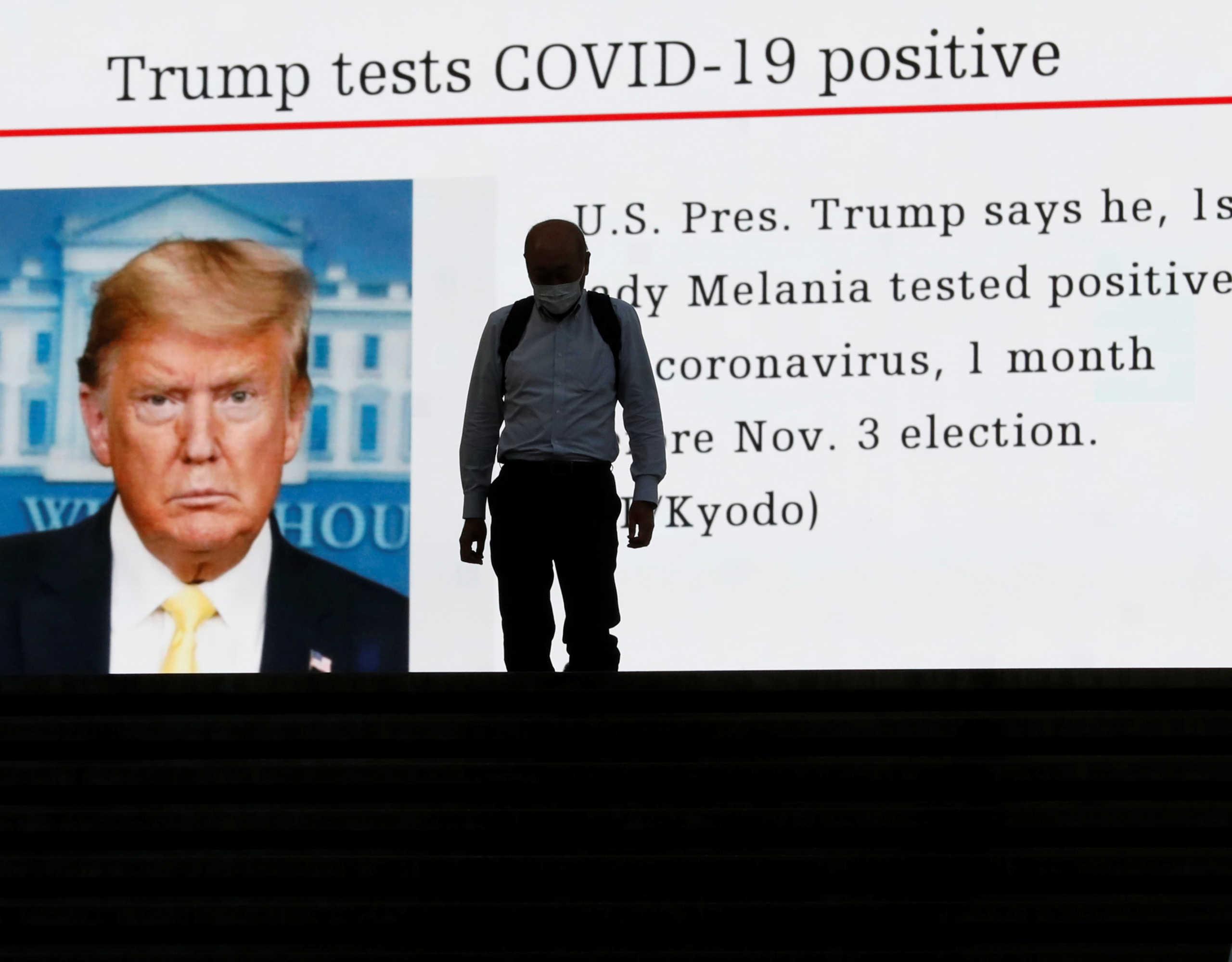«Άρρωστα» και τα χρηματιστήρια μετά το… θετικό τεστ Τραμπ