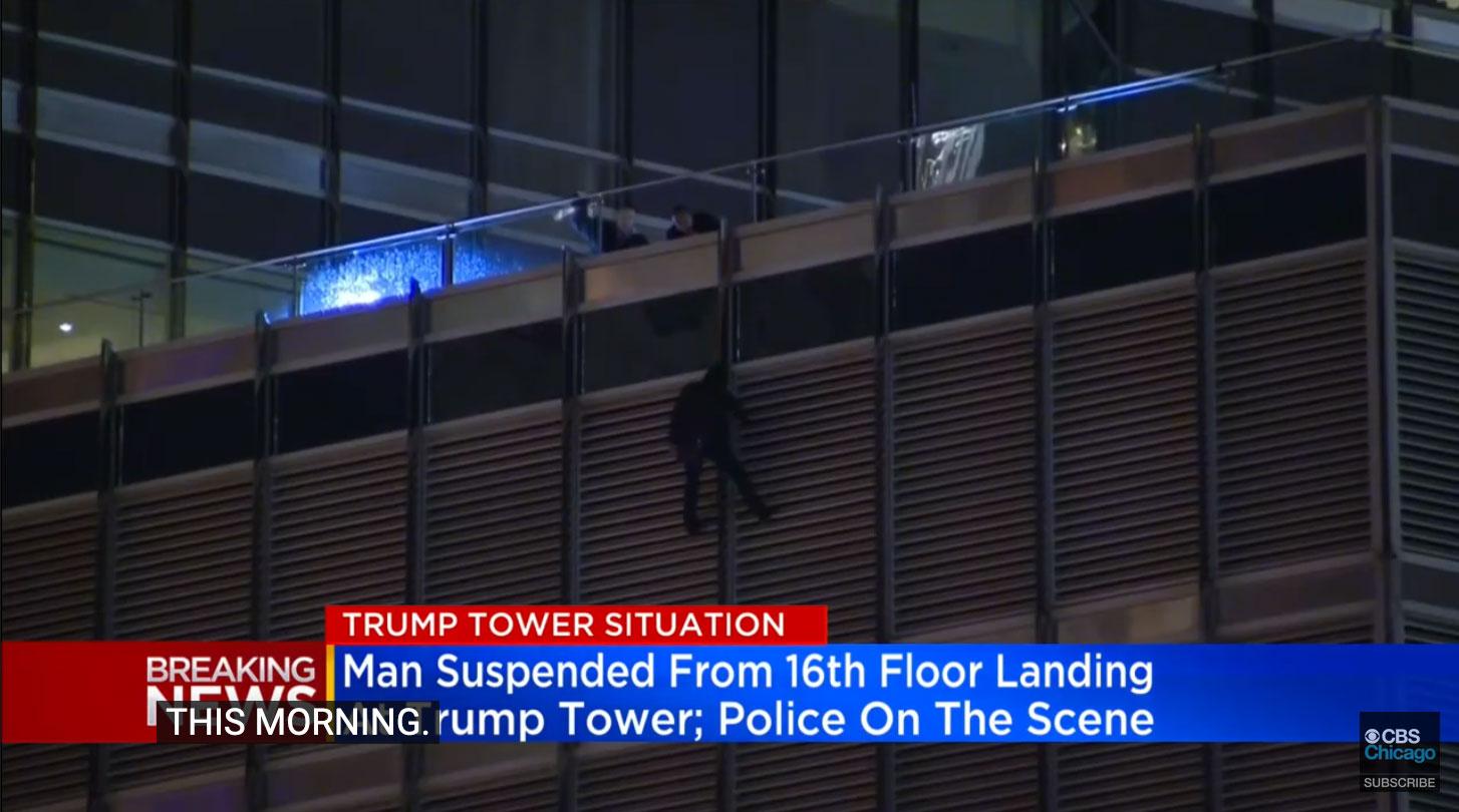 άνδρας στον πύργο του Τραμπ
