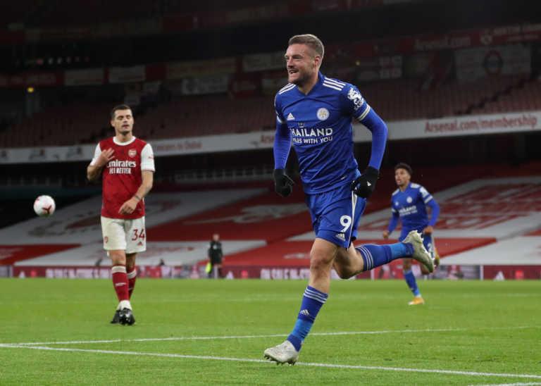 """Premier League: Ο Βάρντι """"σκότωσε"""" την Άρσεναλ σε ιστορική νίκη για τη Λέστερ (video)"""