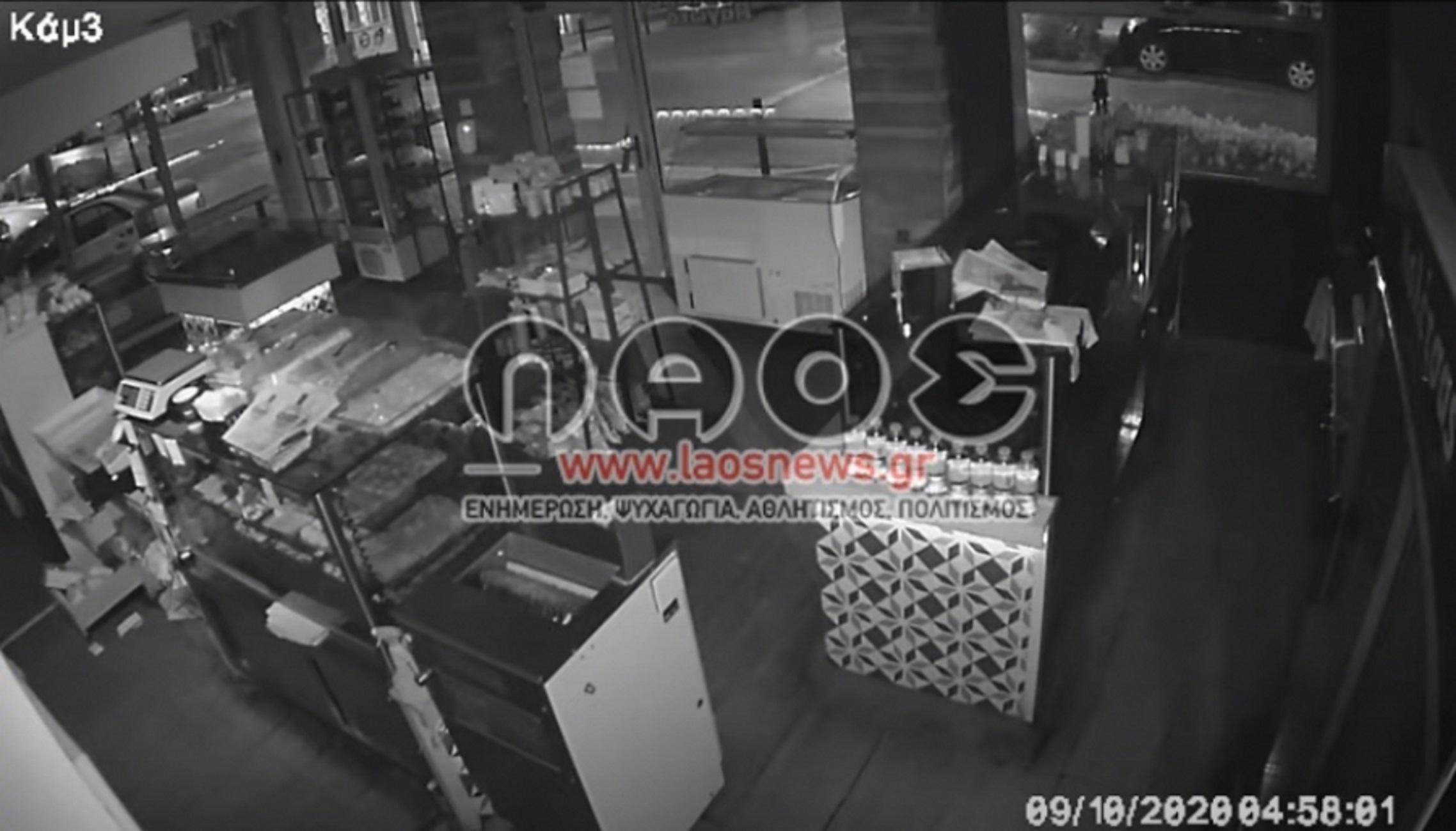 Βέροια: Η διάρρηξη εξπρές δεν ολοκληρώθηκε με τον τρόπο που ήθελαν οι δράστες (Βίντεο ντοκουμέντο)