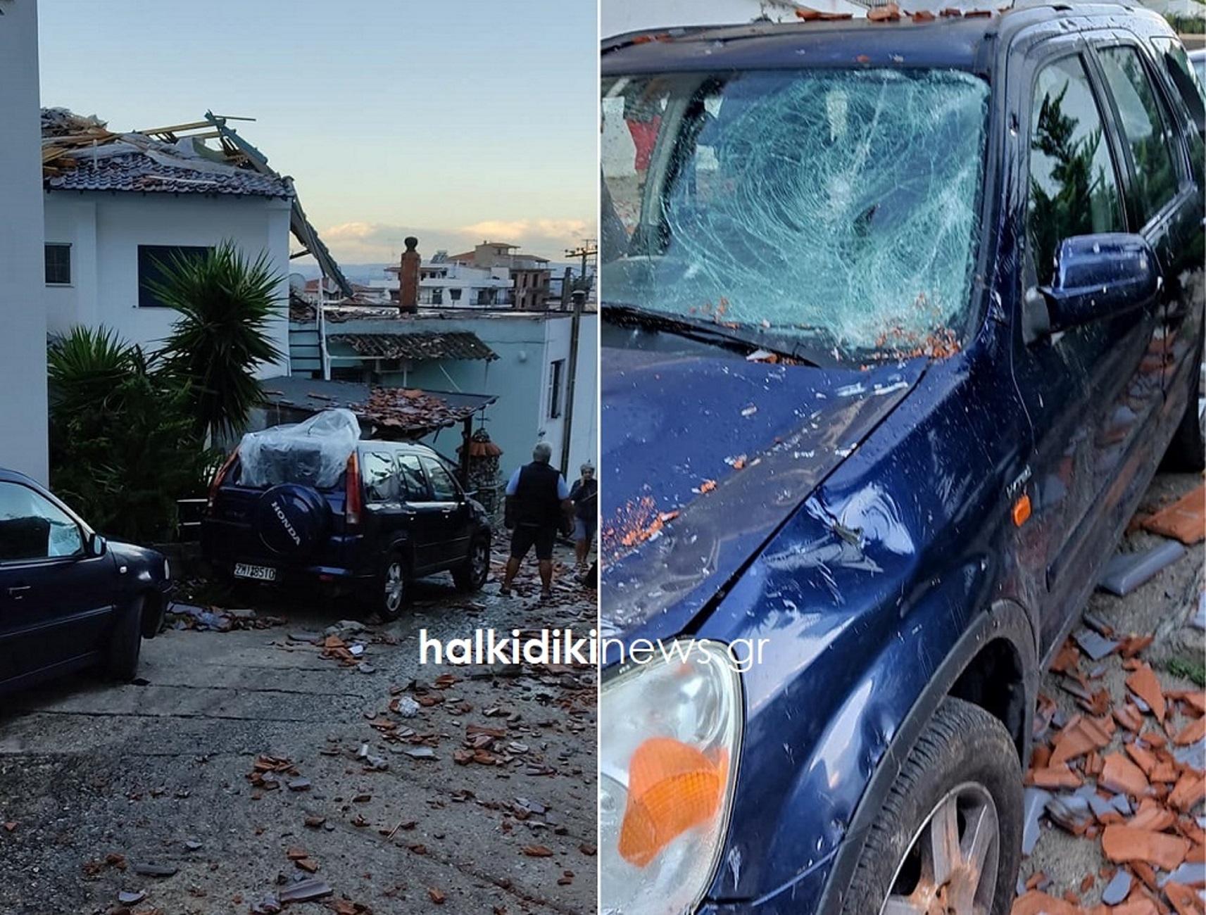Χαλκιδική: Ανεμοστρόβιλος διέλυσε σπίτια και αυτοκίνητα! Δείτε τις εικόνες καταστροφής στη Σιθωνία (Φωτό)