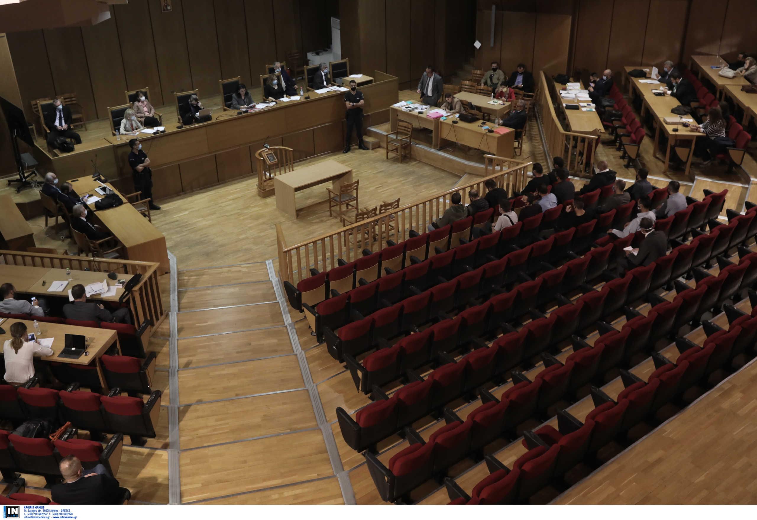 αίθουσα Εφετείου Αθηνών όπου εκδικάζεται η υπόθεση της Χρυσής Αυγής