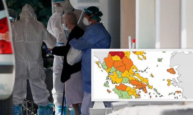 """Κορονοϊός: Καλπάζουν τα κρούσματα στην Ελλάδα! Διψήφιοι αριθμοί ακόμα και σε """"κίτρινους"""" και """"πράσινους"""" νομούς"""