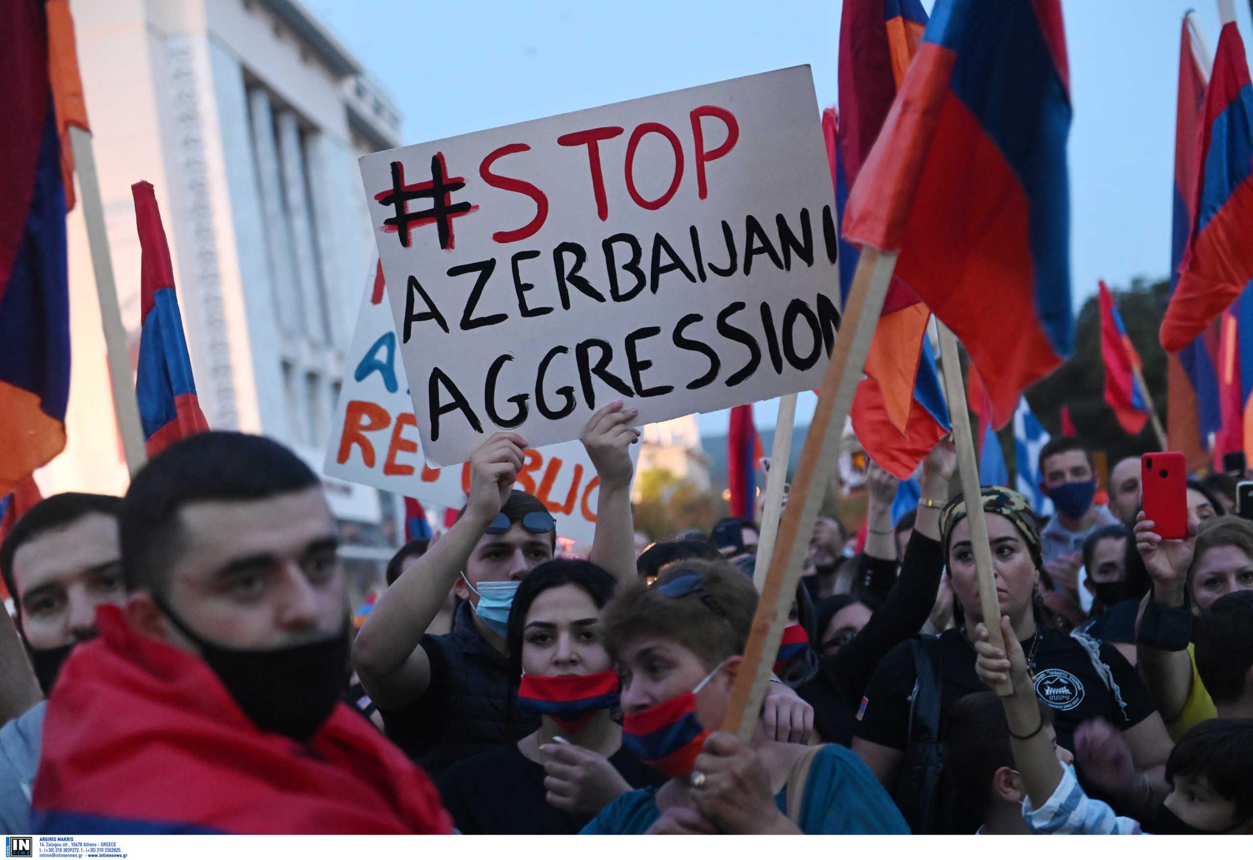 Πορεία διαμαρτυρίας Αρμενίων στη Θεσσαλονίκη για το Ναγκόρνο Καραμπάχ (video)